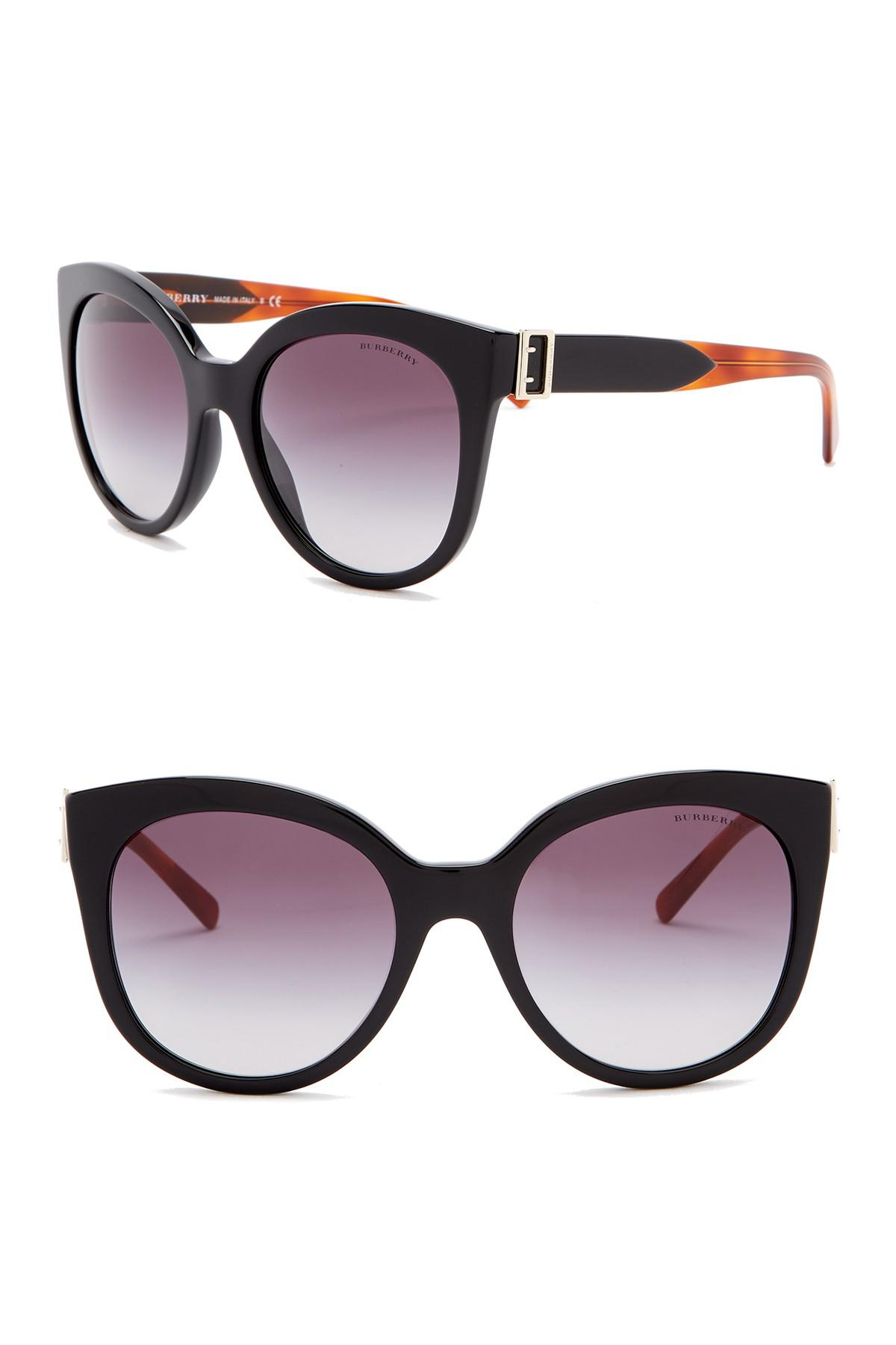 7feb5c2e948 Burberry - Black 55mm Cat Eye Sunglasses - Lyst. View fullscreen