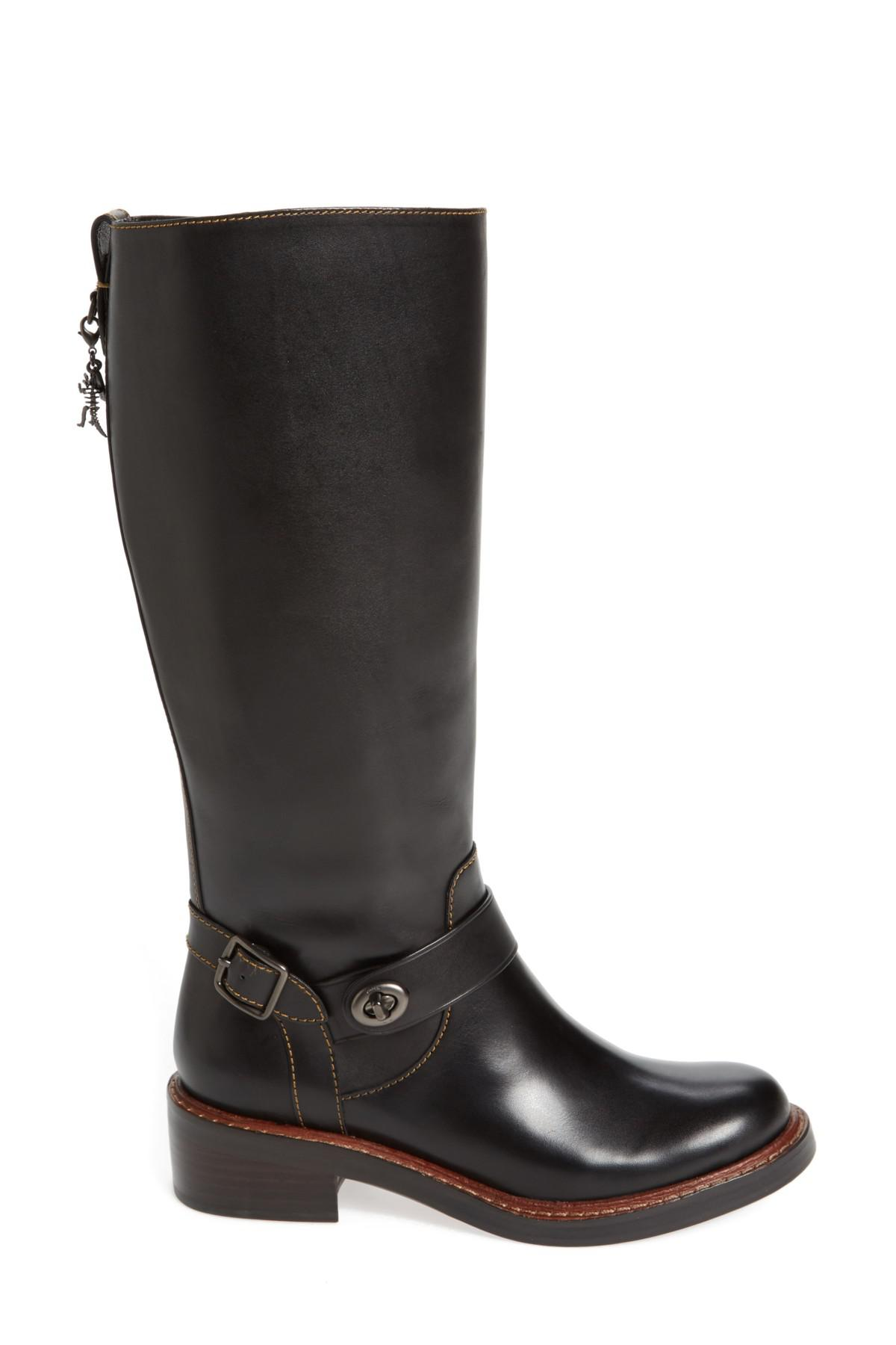 915601620601 Lyst - COACH Womens Sutton Leather Round Toe Knee High Fashion Boots ...