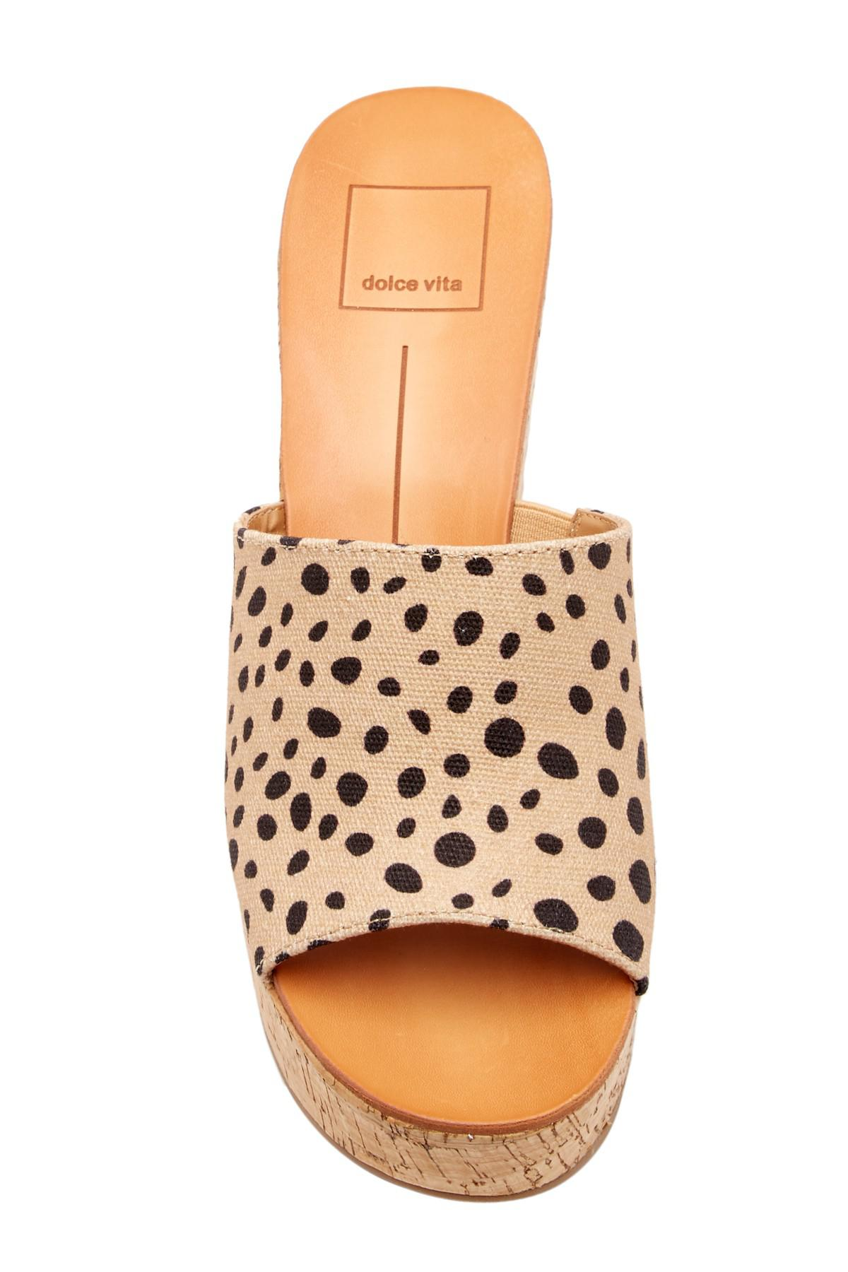 cf9dfafbc16 Dolce Vita Brown Barkley Cork Wedge Sandal