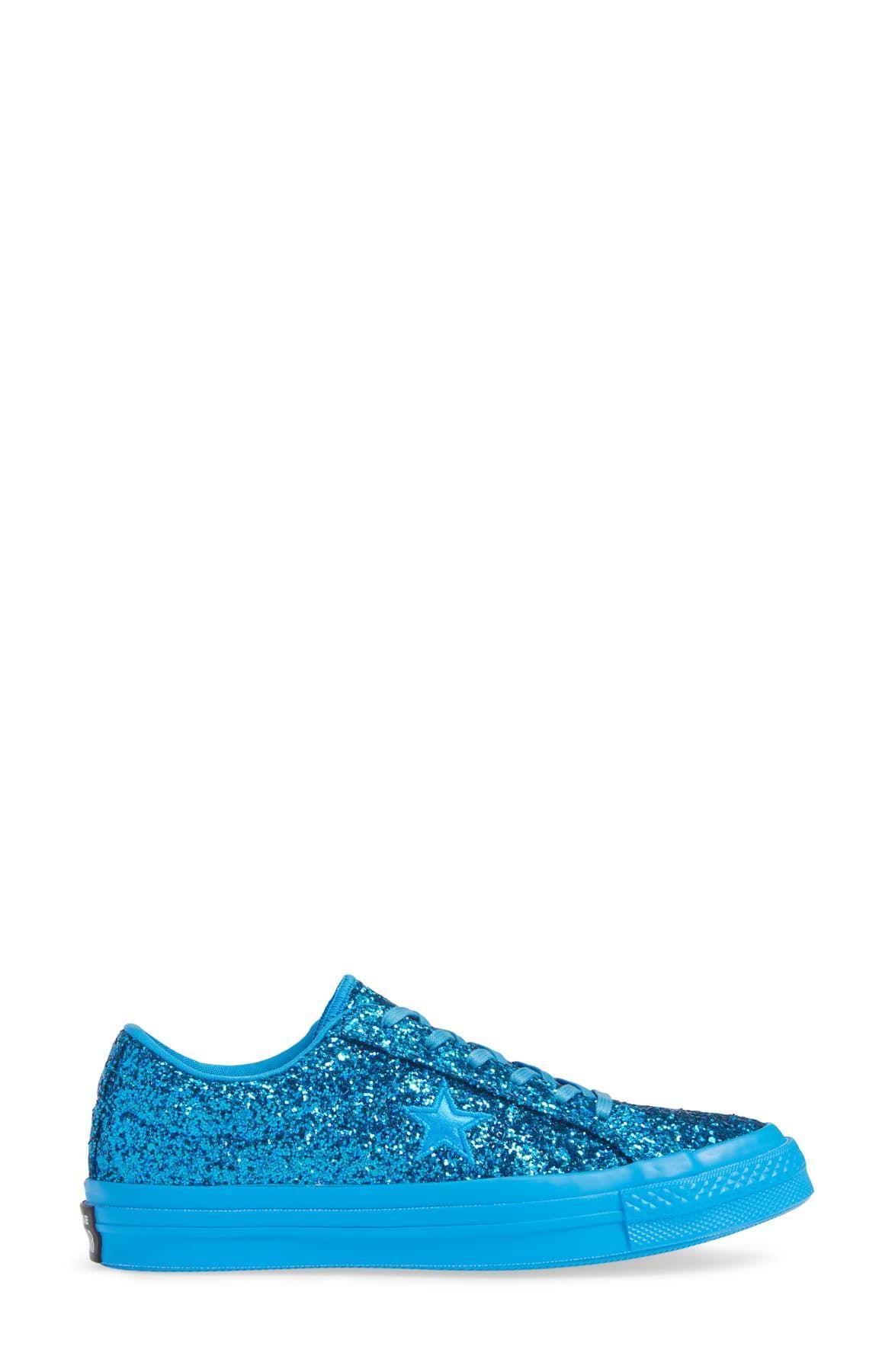 converse donna blu glitter