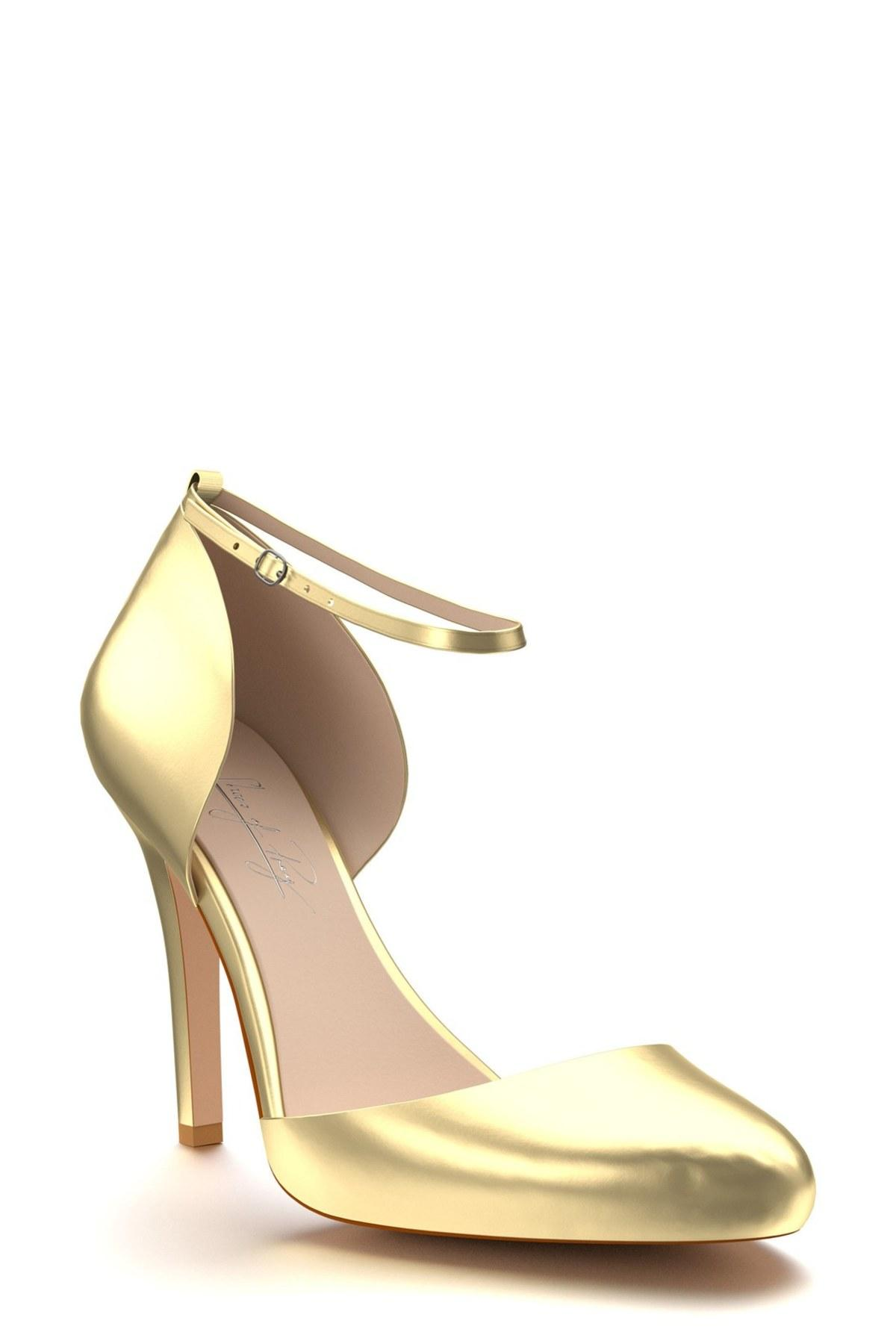 5975cb90777 Lyst - Shoes Of Prey Ankle Strap D orsay Pump (wide Widths Available ...