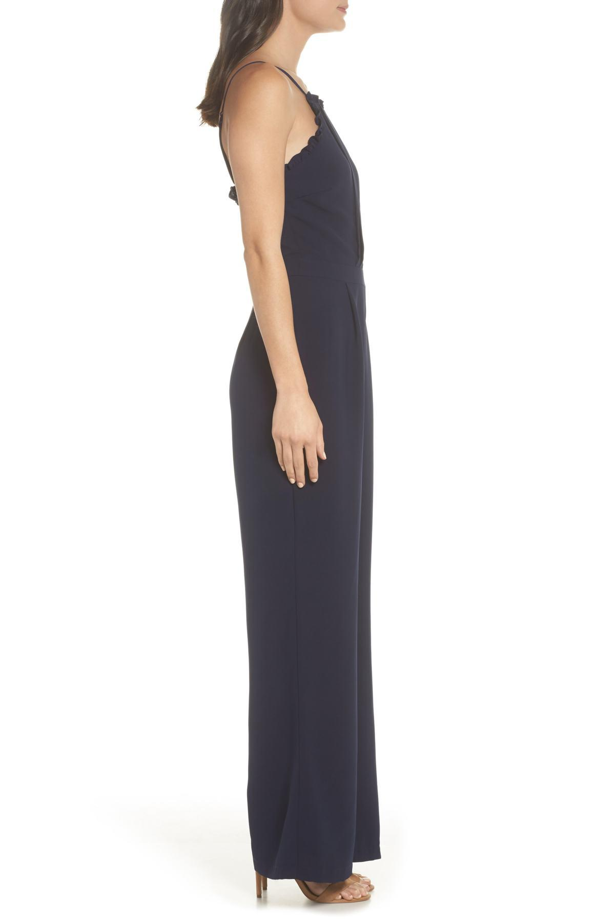 834969161be Adelyn Rae - Blue Apron Style Jumpsuit - Lyst. View fullscreen