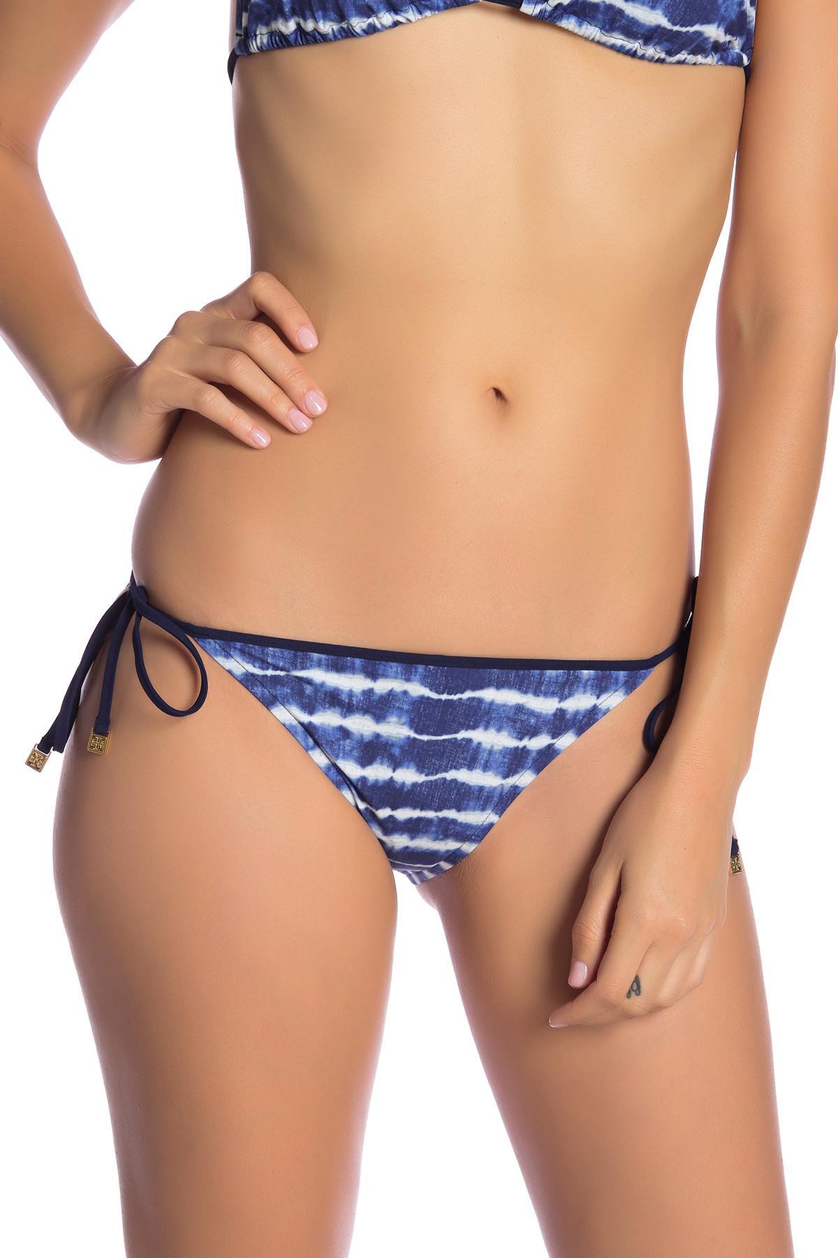 c54b9f8c23 Lyst - Tory Burch Tie-dye String Bikini Bottom in Blue