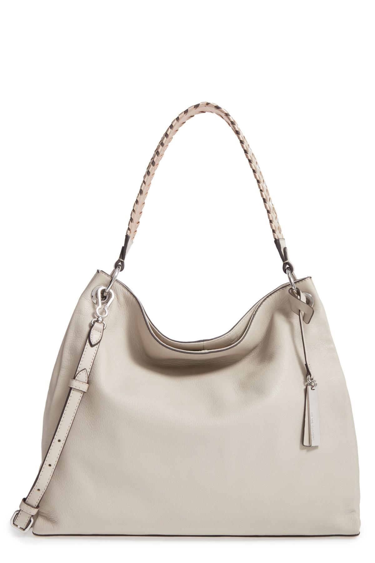 923104ffe Vince Camuto Nadja Leather Hobo in Gray - Lyst