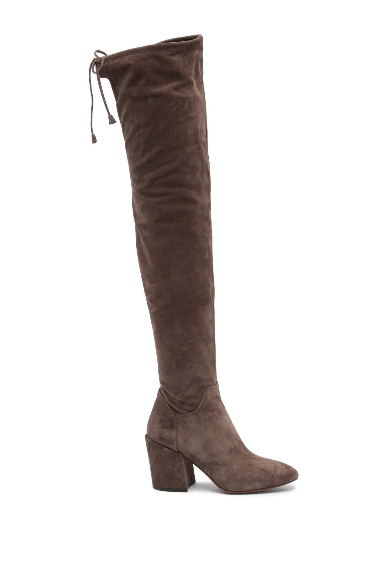 39aff89de8b249 Lyst - Aquatalia Florencia Suede Knee High Boot in Brown
