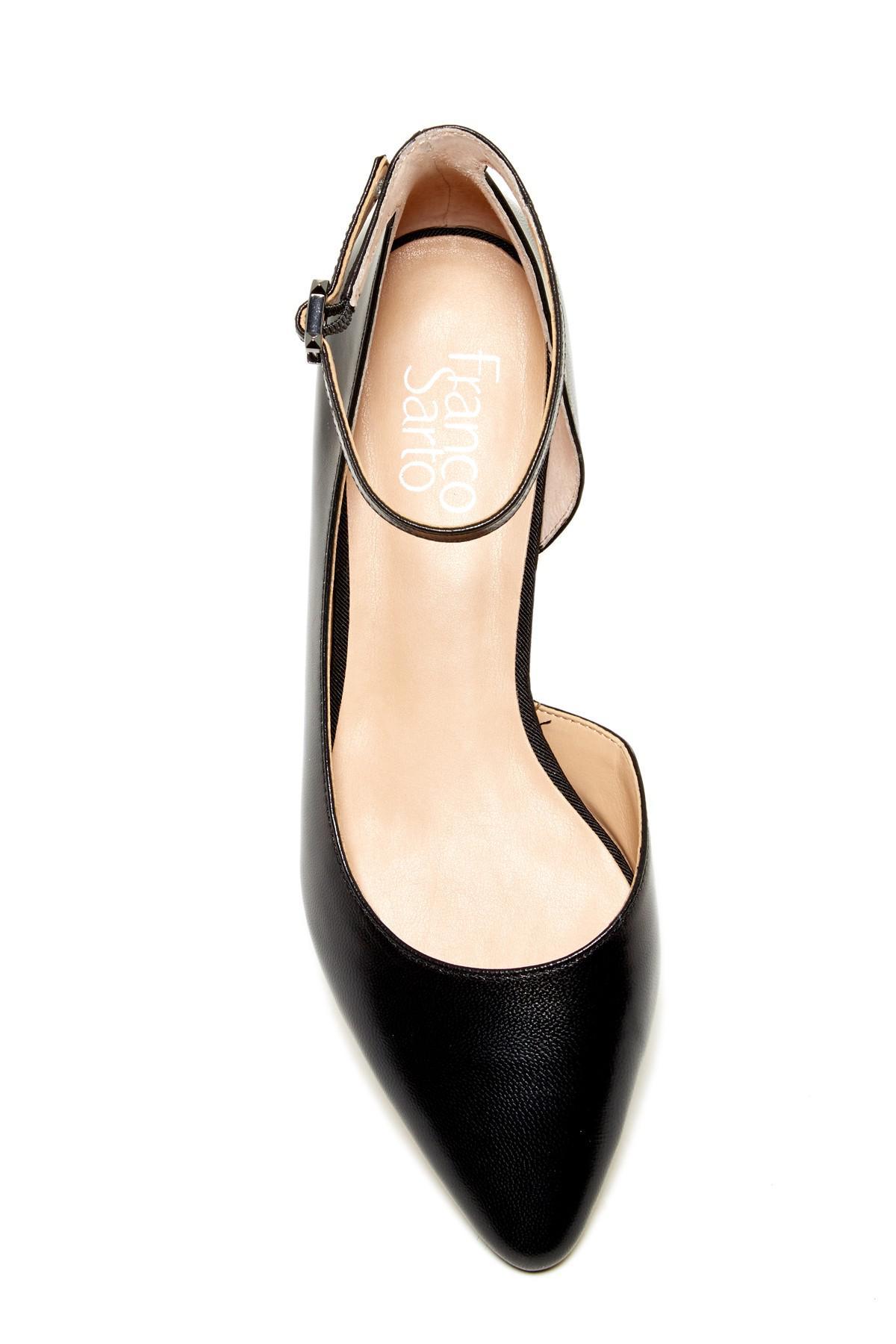 846bf33105b Women's Black Slide Leather D'orsay Flat