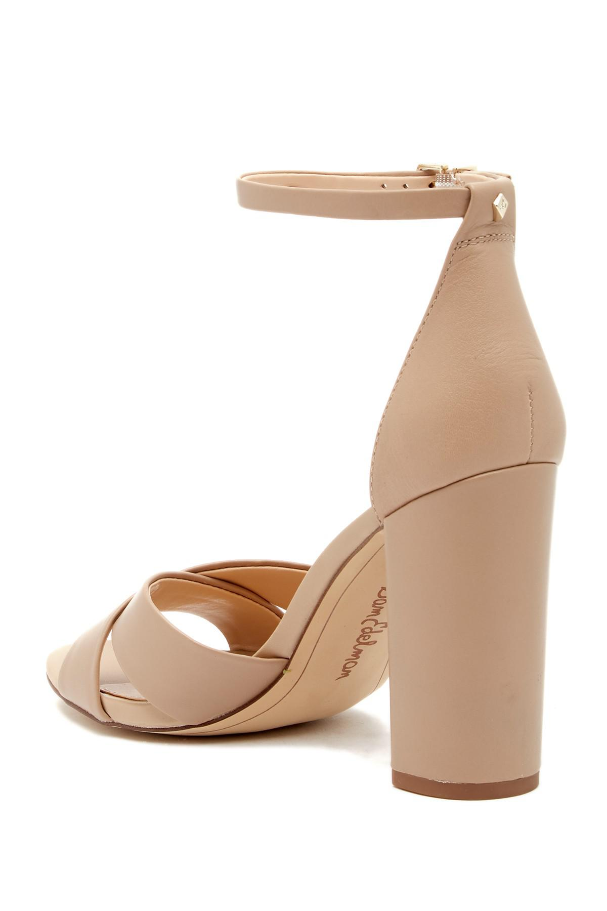 da21df050ce Sam Edelman - Natural Yancy Crisscross Ankle Strap Sandal - Lyst. View  fullscreen