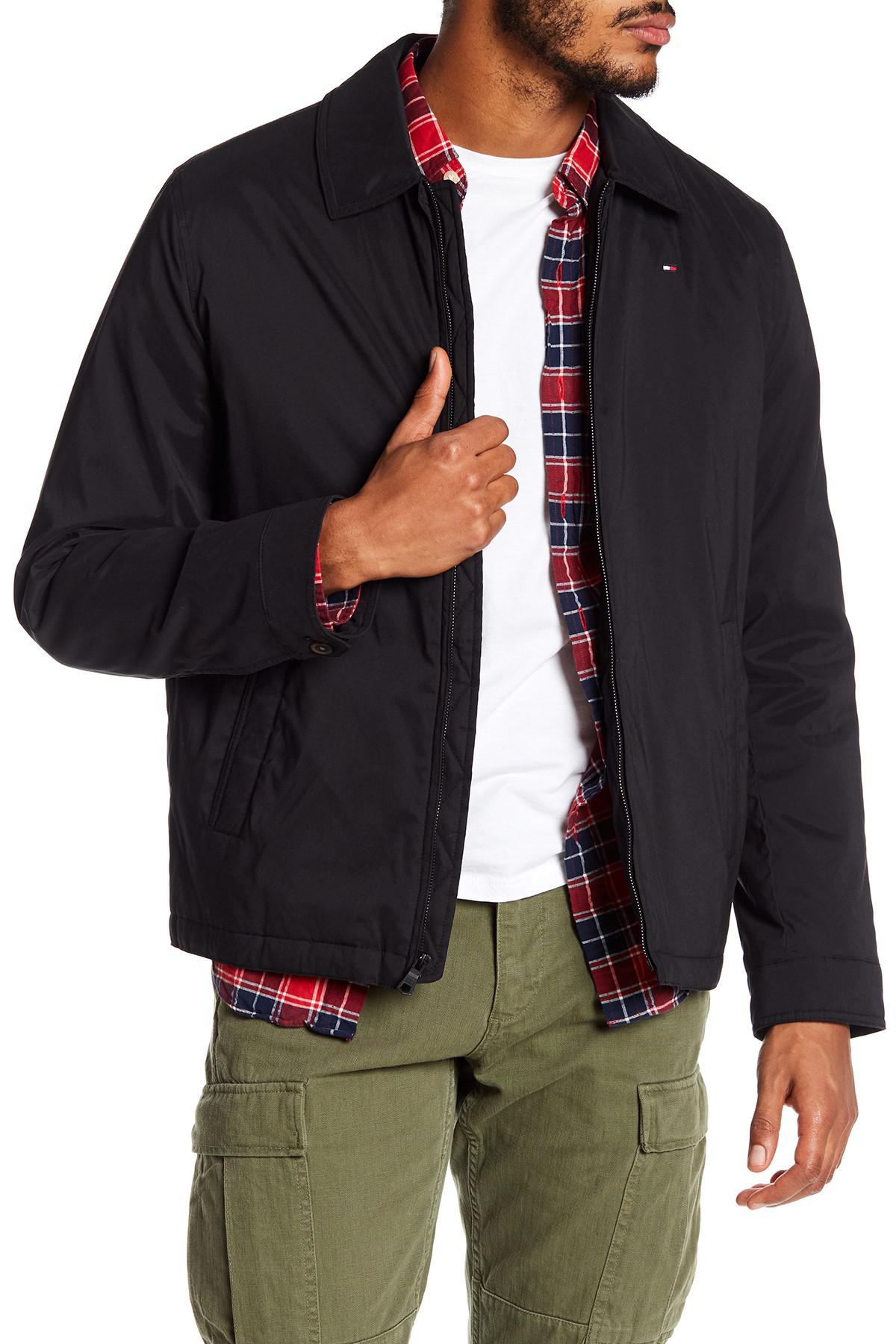 6e7fe63b Lyst Tommy Hilfiger Microtwill Golf Jacket In Black For Men