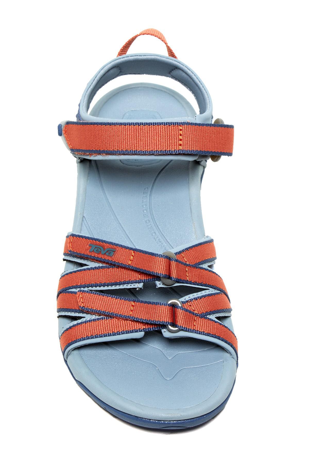 35d1acfb049e Lyst - Teva Tirra Crisscross Sandal in Blue