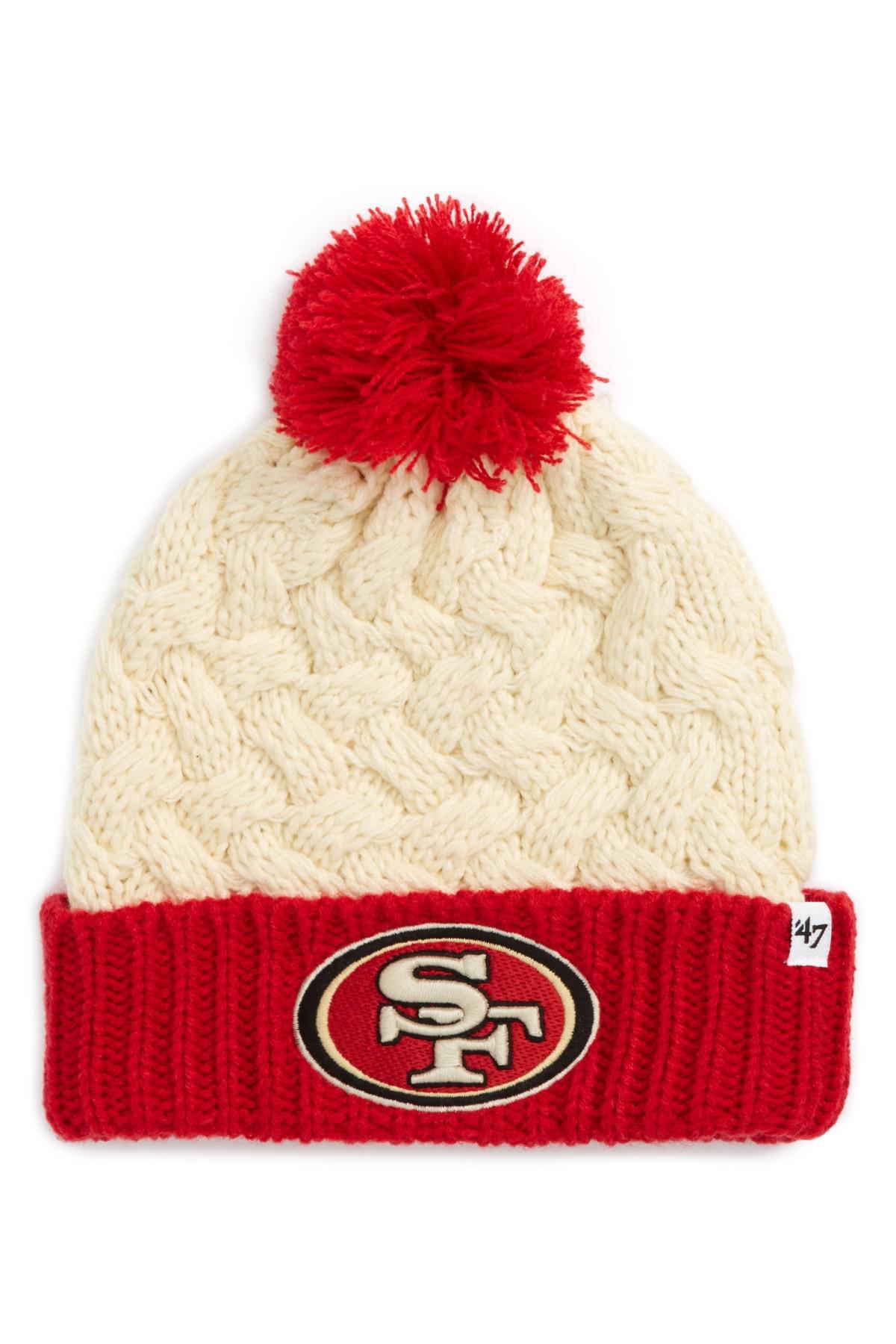 28319fa4d8a ... discount code for 47 brand. womens red matterhorn san francisco 49ers  beanie 6bafa 61acc