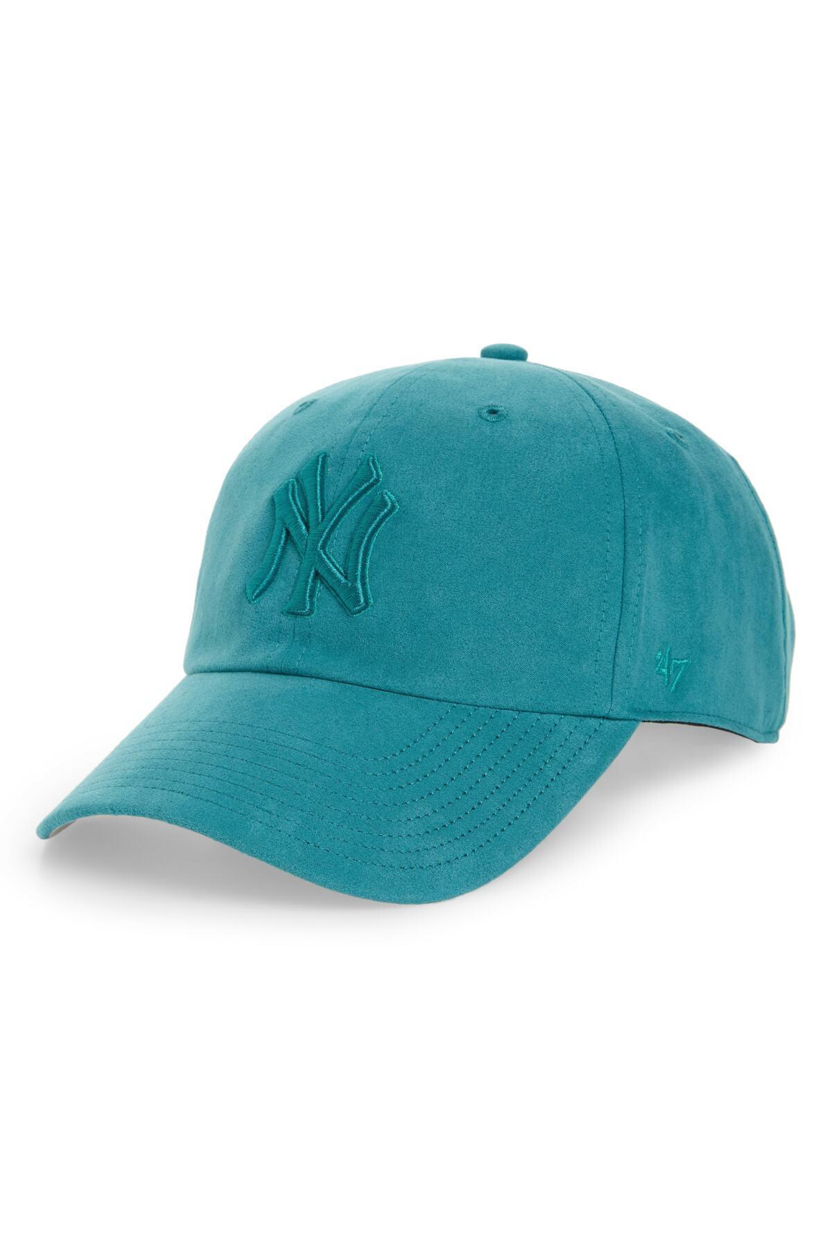 competitive price 6b449 9a45b ... clearance 47 brand. womens blue ultrabasic clean up new york yankees baseball  cap f2557 53afc
