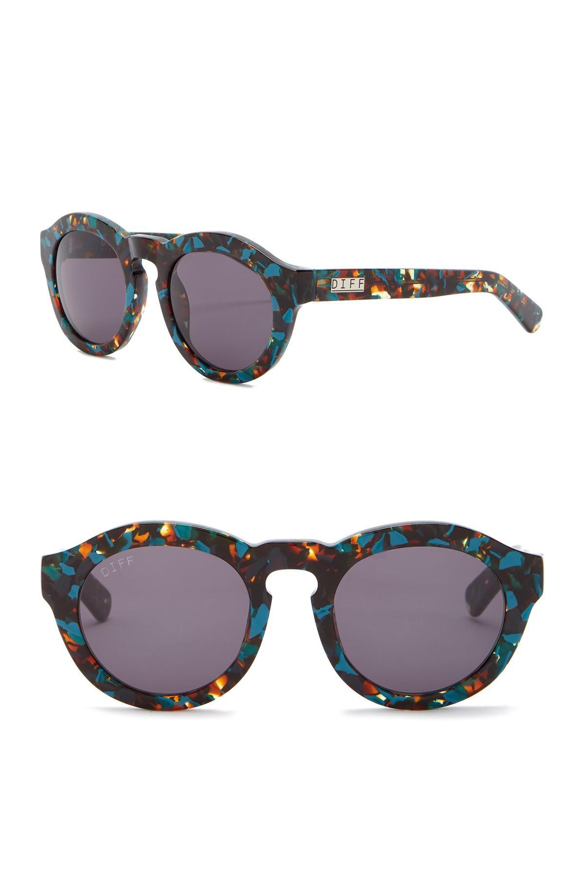 e364a16414 DIFF - Multicolor Dime Round Keyhole 48mm Bridge Sunglasses - Lyst. View  fullscreen