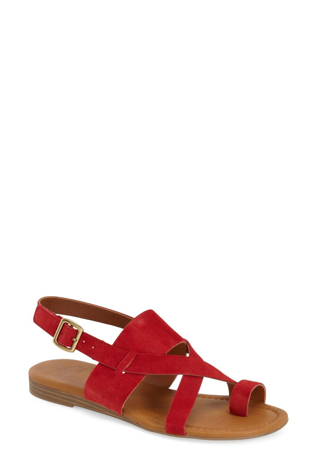 Lyst Franco Sarto Gia Sandal Women In Red
