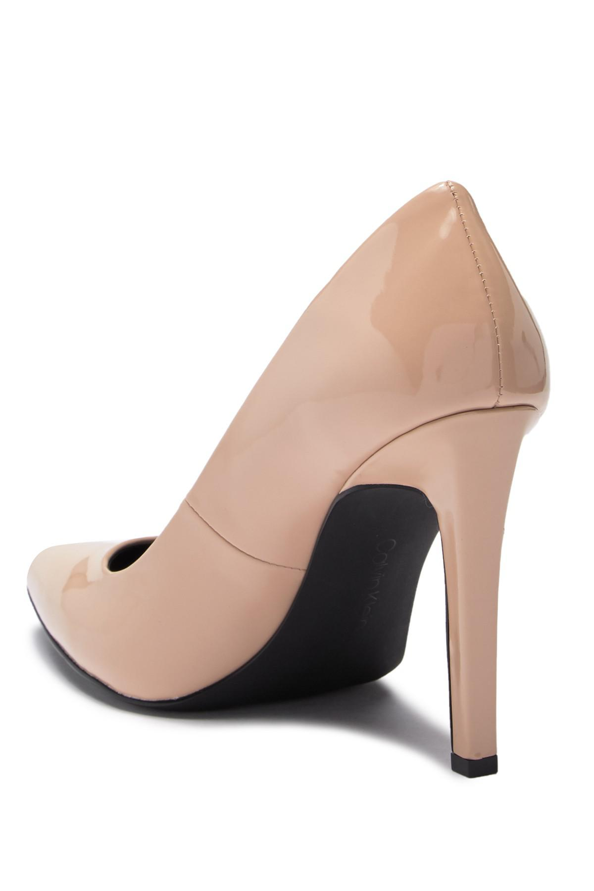9b604747c76 Calvin Klein - Multicolor Brady Patent Leather Pointed-toe Pump - Lyst.  View fullscreen