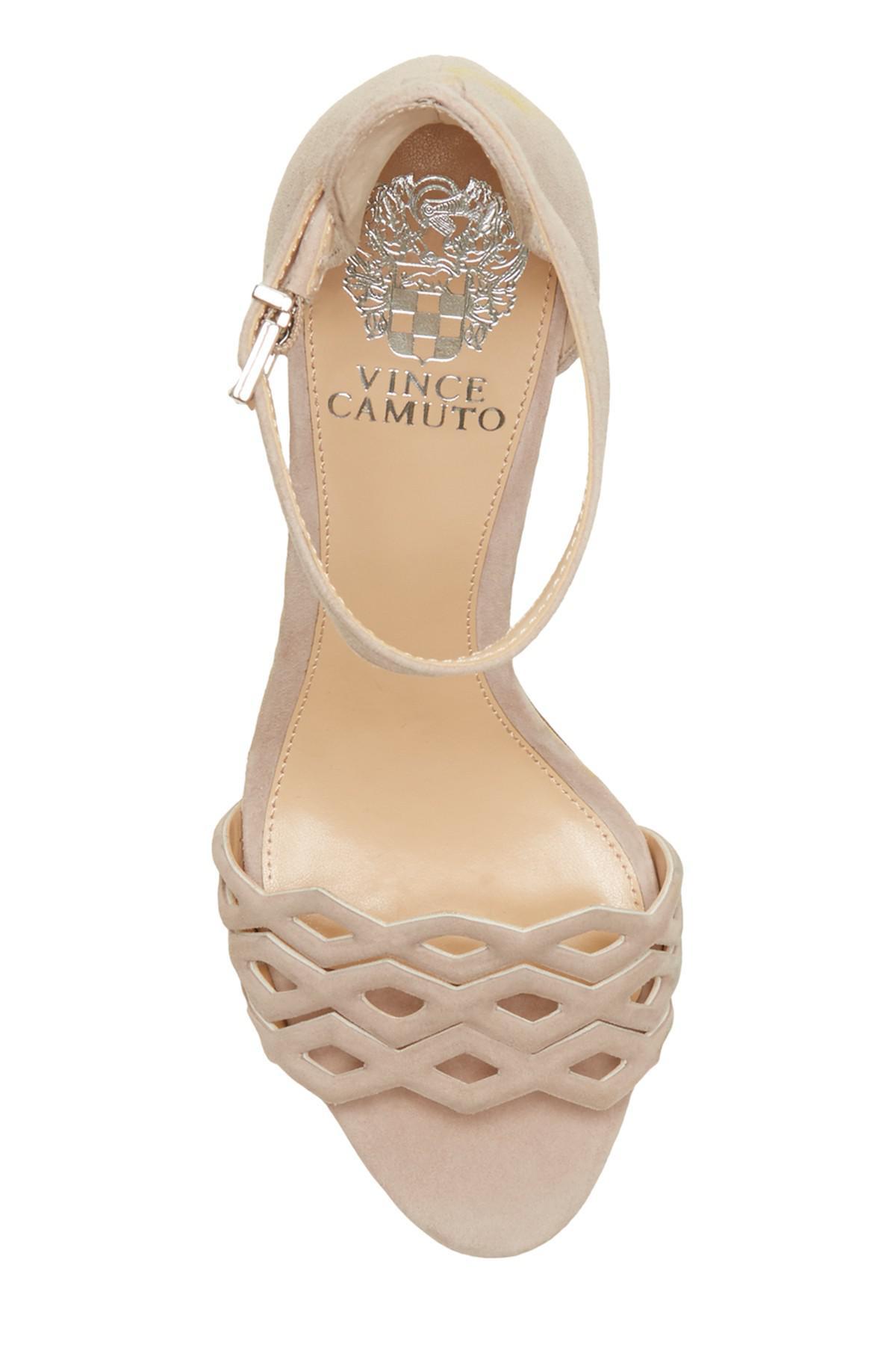 699e0160089 Vince Camuto - Natural Caveena Block Heel Sandal (women) - Lyst. View  fullscreen