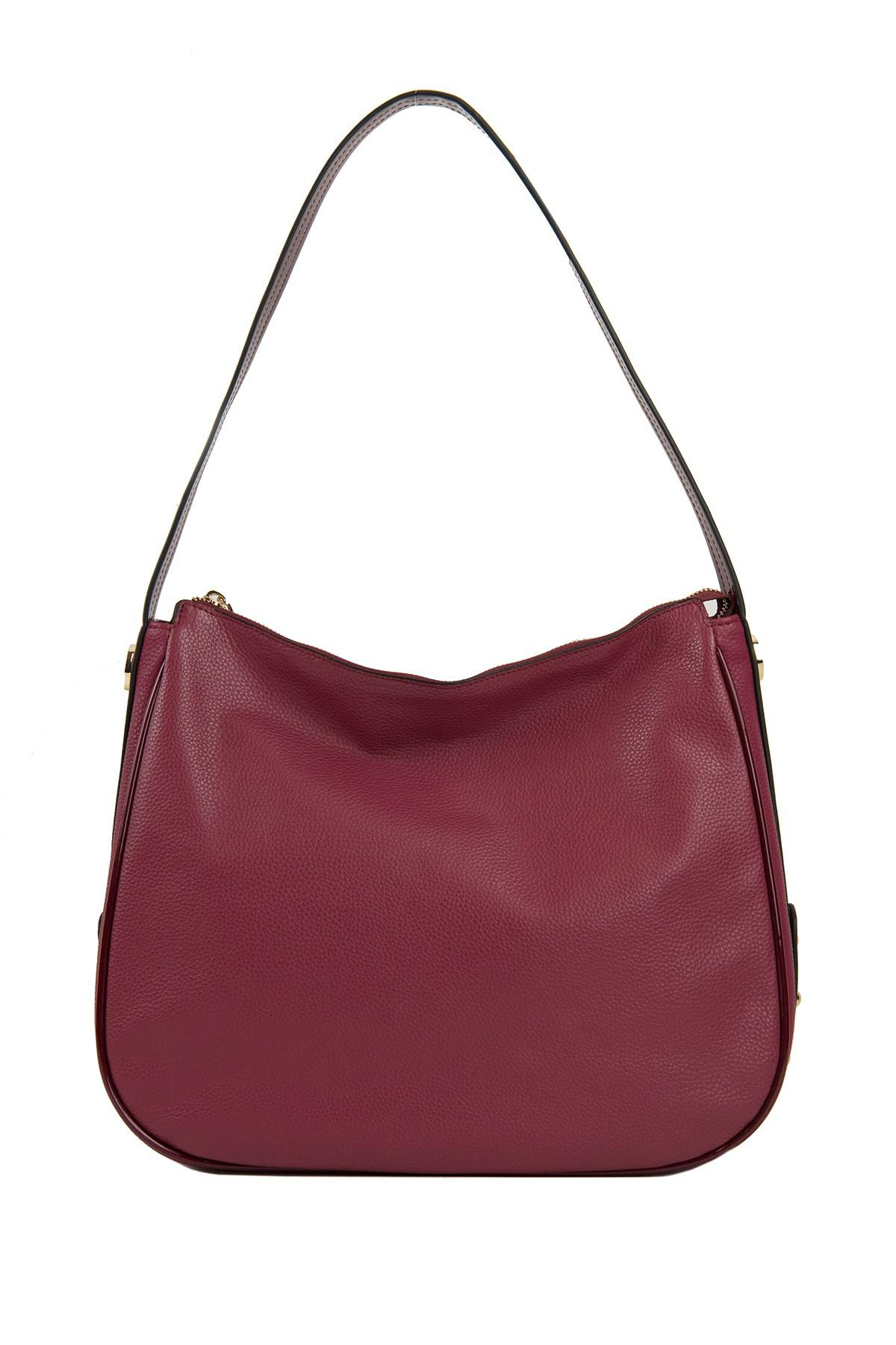 21259f2d4a Lyst - Perlina Krista Leather Hobo Bag in Red