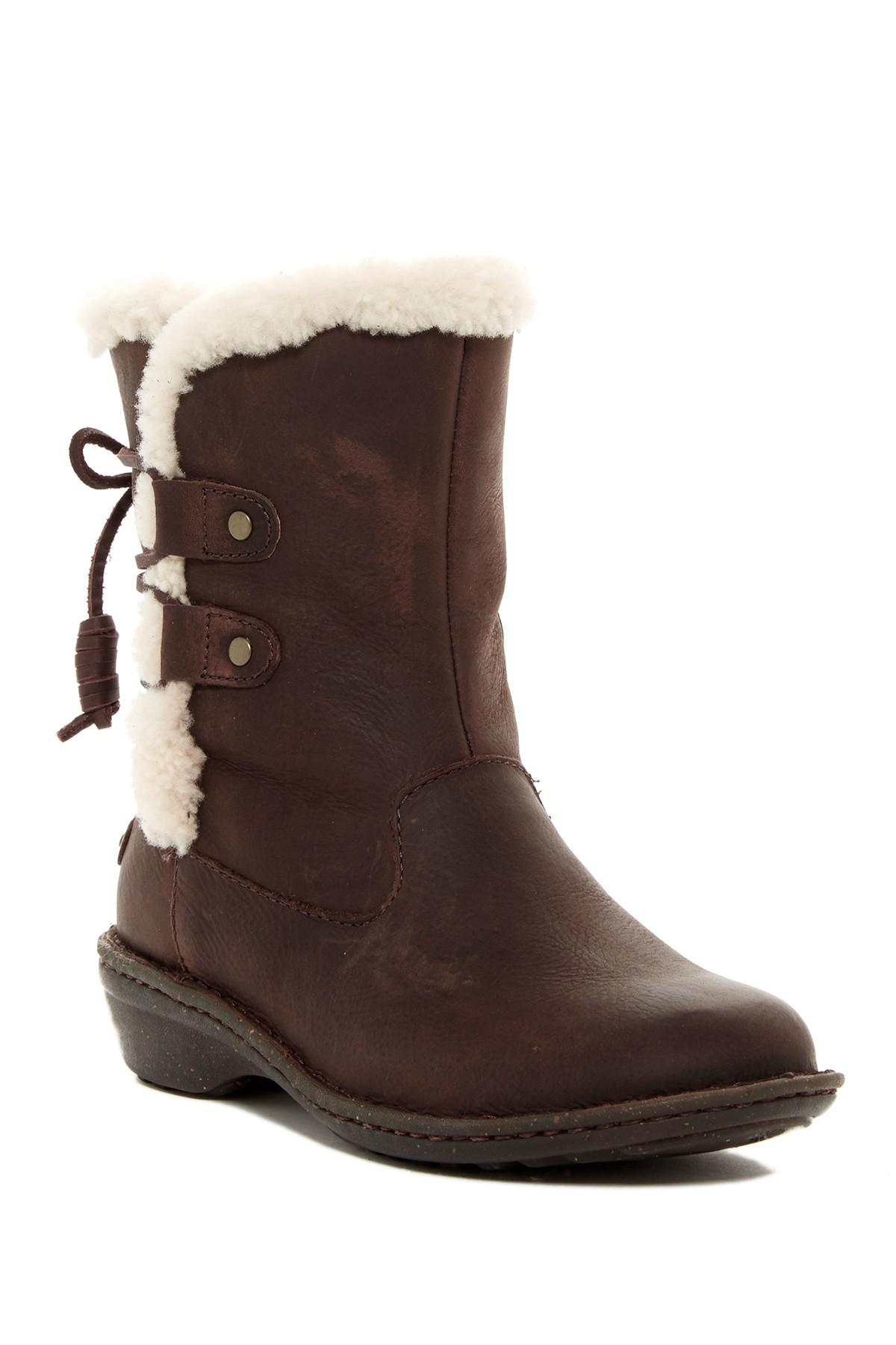 Acne In Hair >> UGG Akadia Genuine Sheepskin Lace-up Boot in Brown - Lyst