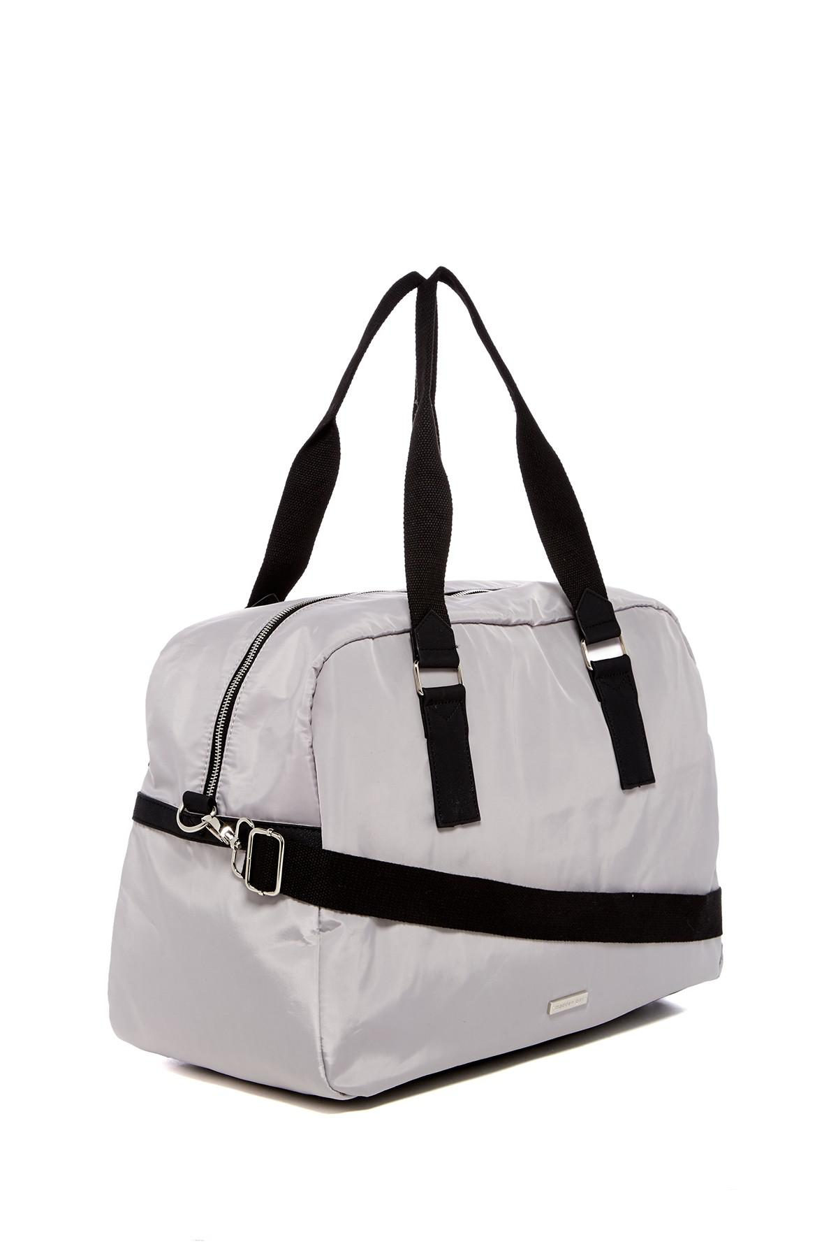 0a4f47c5f213 Lyst - Madden Girl Junior Nylon Weekend Bag in Gray