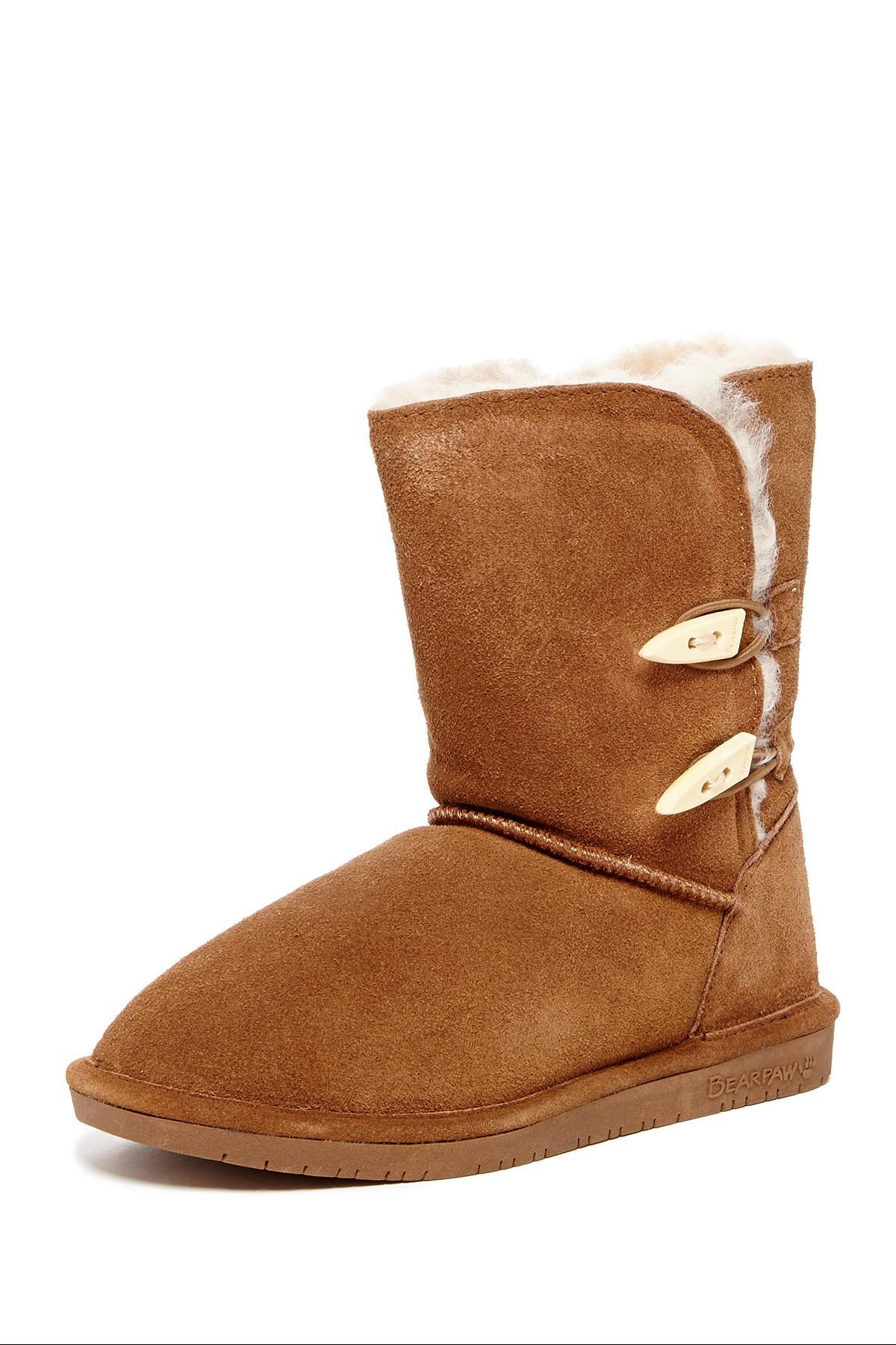 Bearpaw Abigail Genuine Sheepskin Lined Boot In Brown Lyst