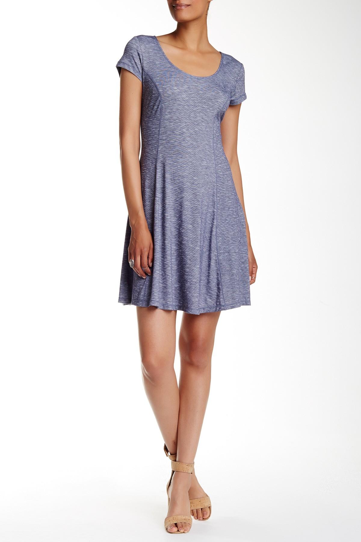 Max Studio Short Sleeve Endoend Flare Dress Lyst