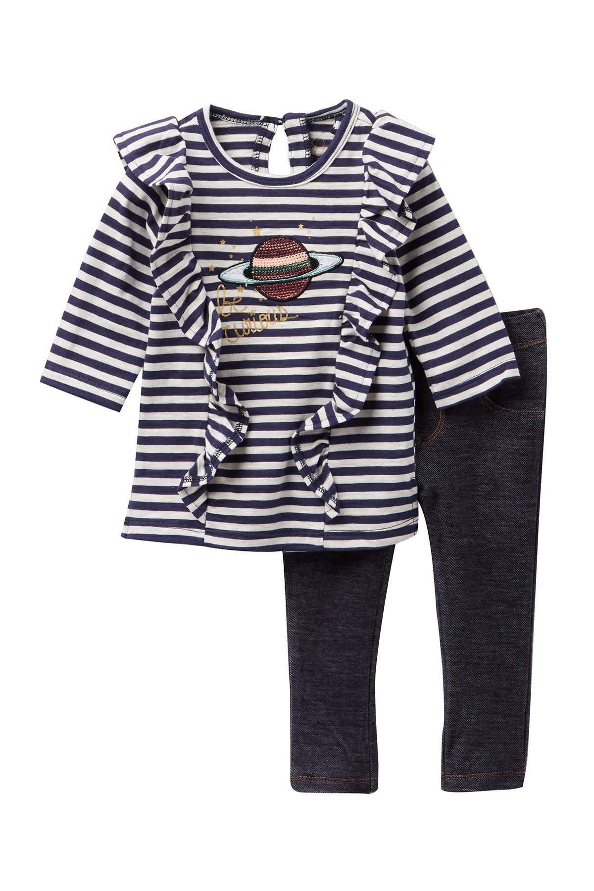 Lyst Jessica Simpson Stripe Top Jeggings Baby Girls In Blue