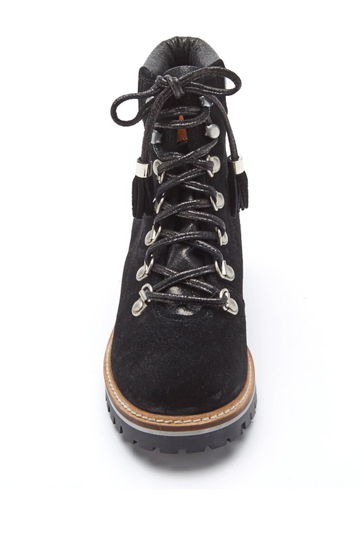 Matisse Rugged Suede Hiker Boot In Black Lyst