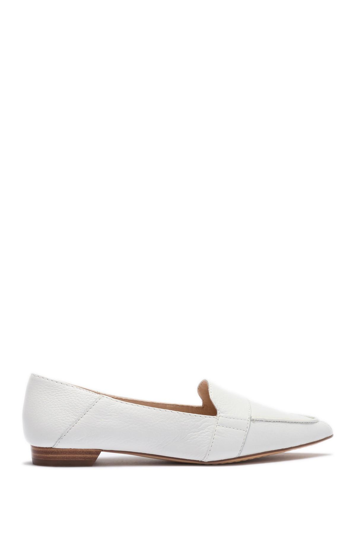 fb607586c5b Lyst - Vince Camuto Maita Pointy Toe Flat in White