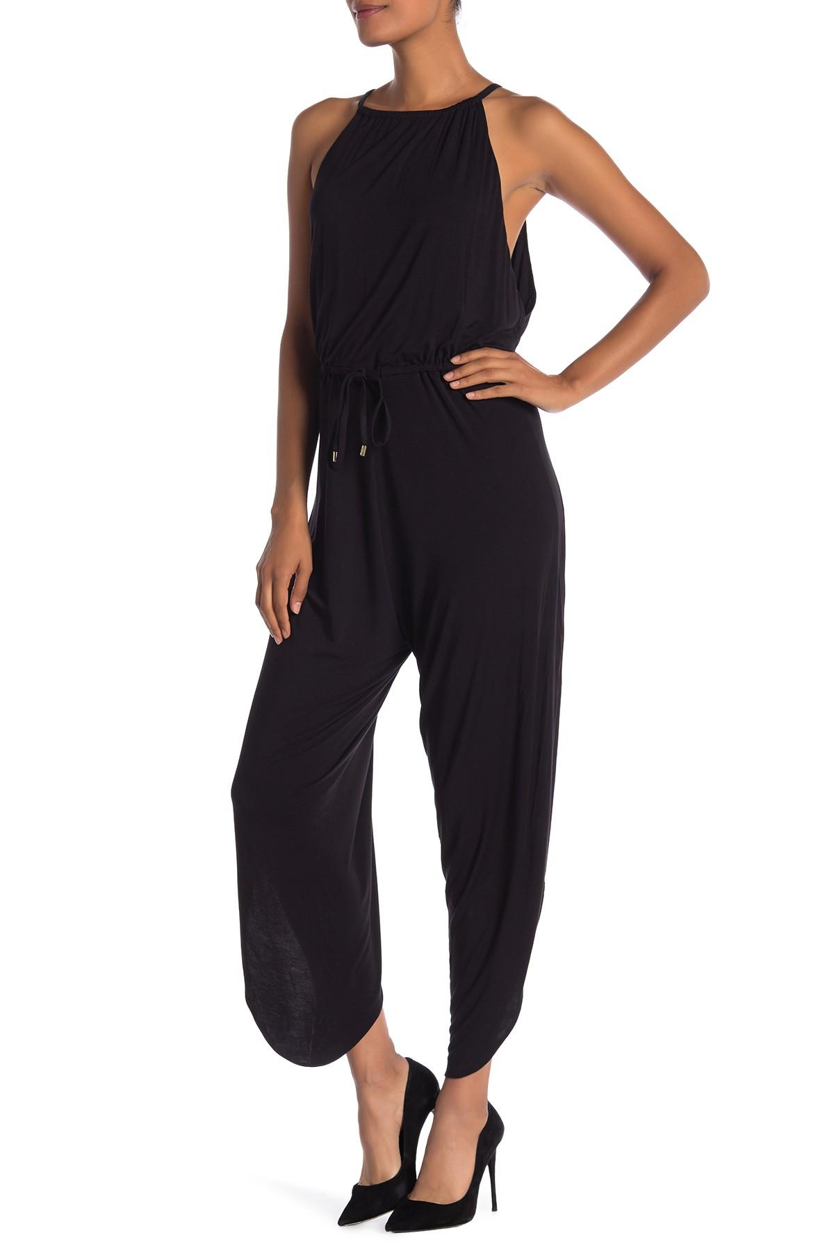 2c15e0c47ac Lyst - Laundry by Shelli Segal Side Slit Jumpsuit in Black