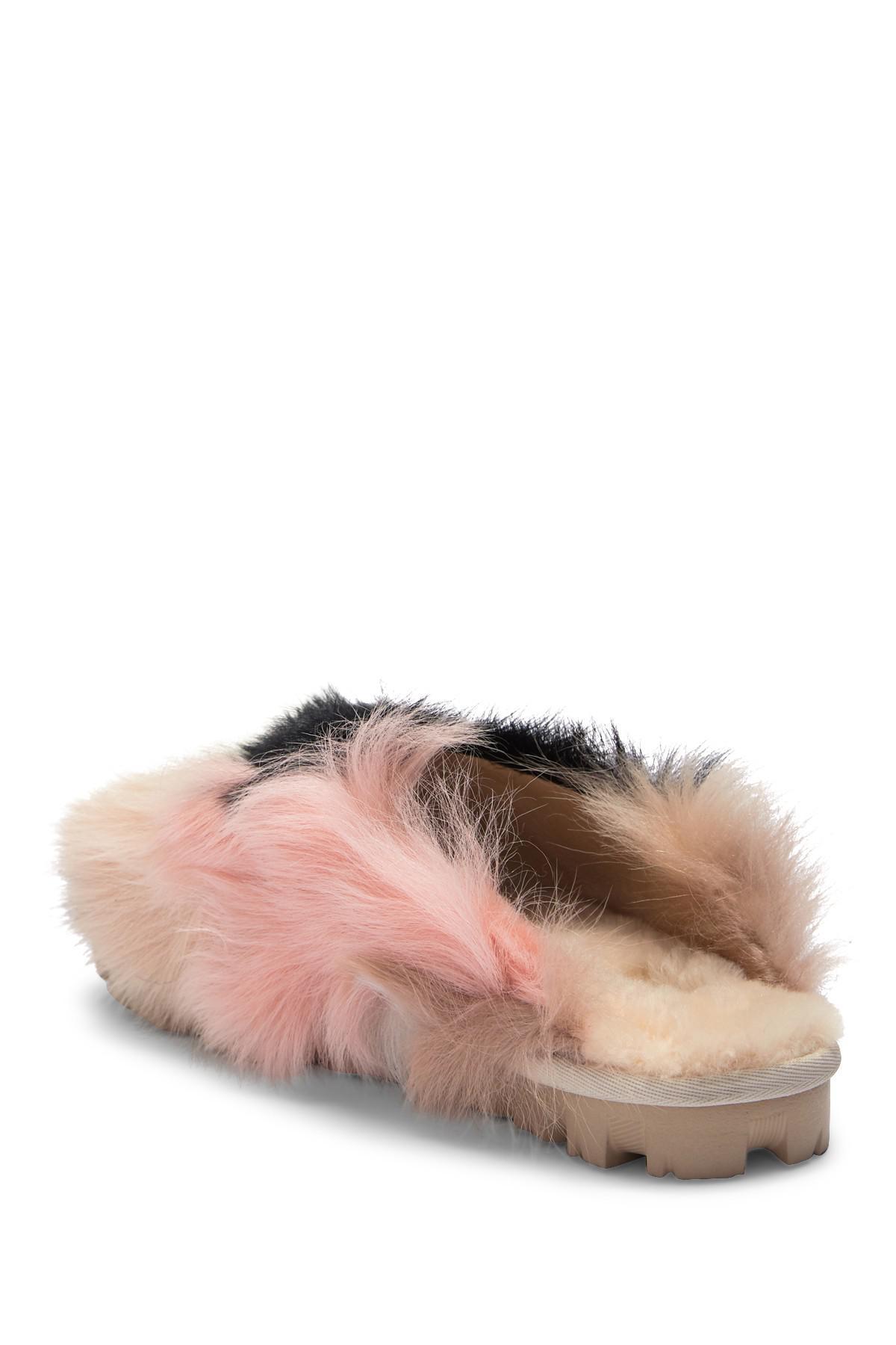 25d66d0461d UGG Shag It Crazy Fur Slide Sandal - Lyst