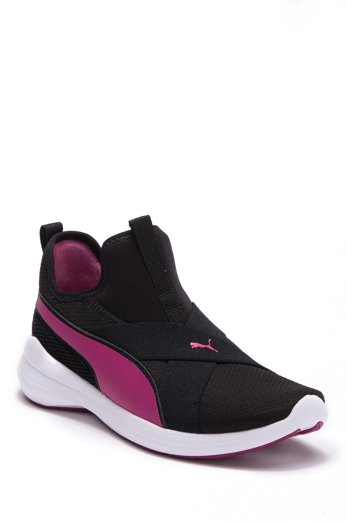 PUMA Rebel X Running Sneaker in Black - Lyst