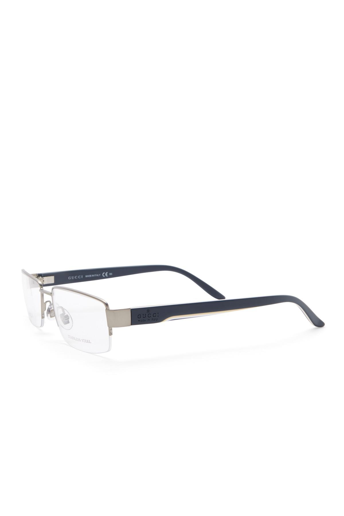 bb516fe901e Lyst - Gucci 53mm Semi-rimless Rectangular Optical Frames