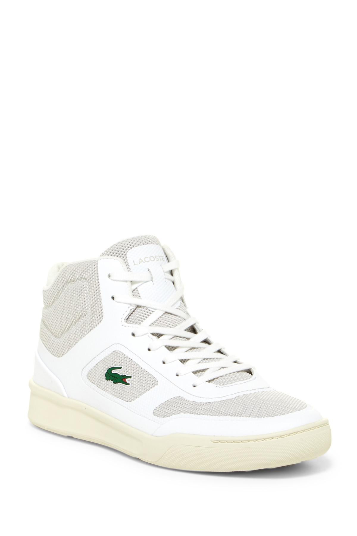 31143c74b0350 Lyst - Lacoste Explorateur Mid Sneaker in White for Men