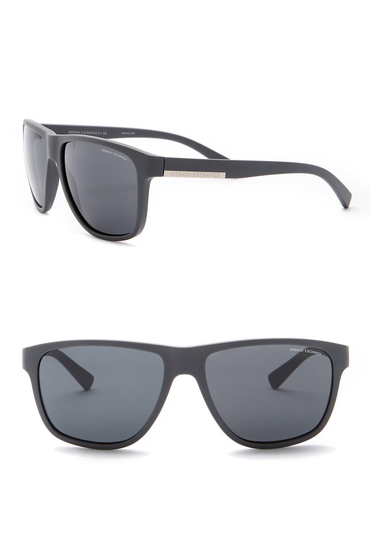 c0e09b56ae3e Lyst - Armani Exchange Men s Square 55mm Acetate Frame Sunglasses in ...