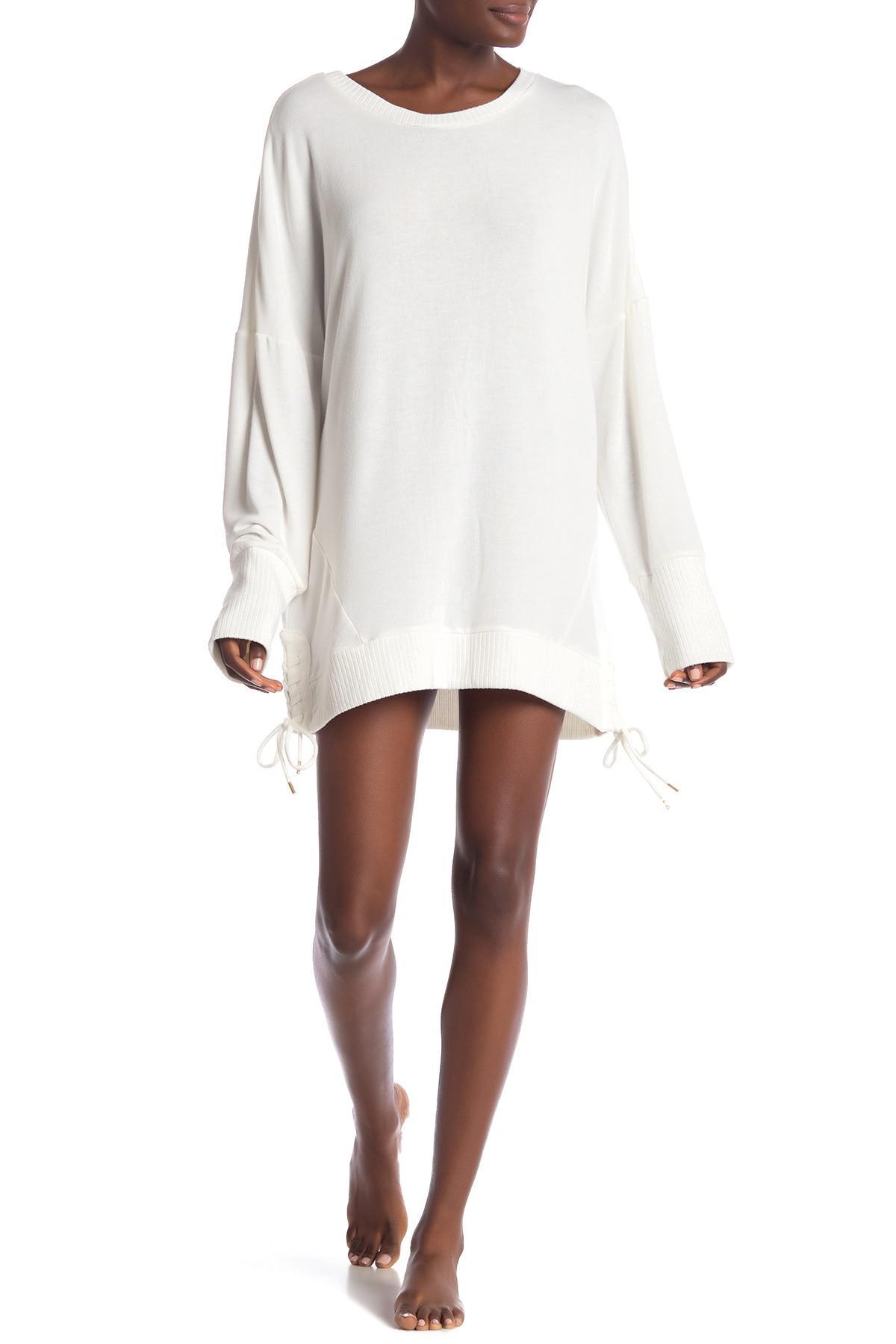 2b82880b3cf2 Lyst - Honeydew Intimates Sleep Queen Knit Sleep Dress in White