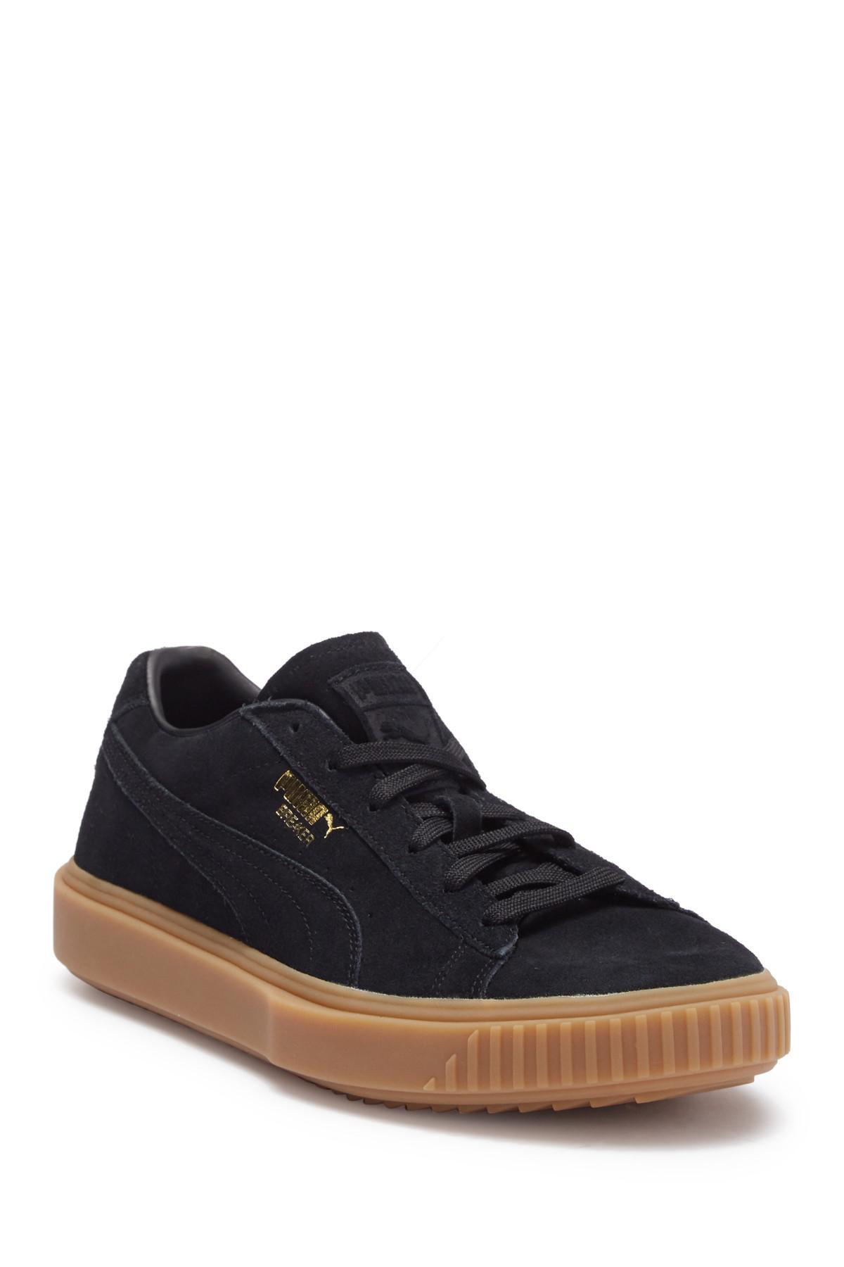 48cb81ac721c Puma Breaker Suede Gum Sneaker in Black for Men - Lyst