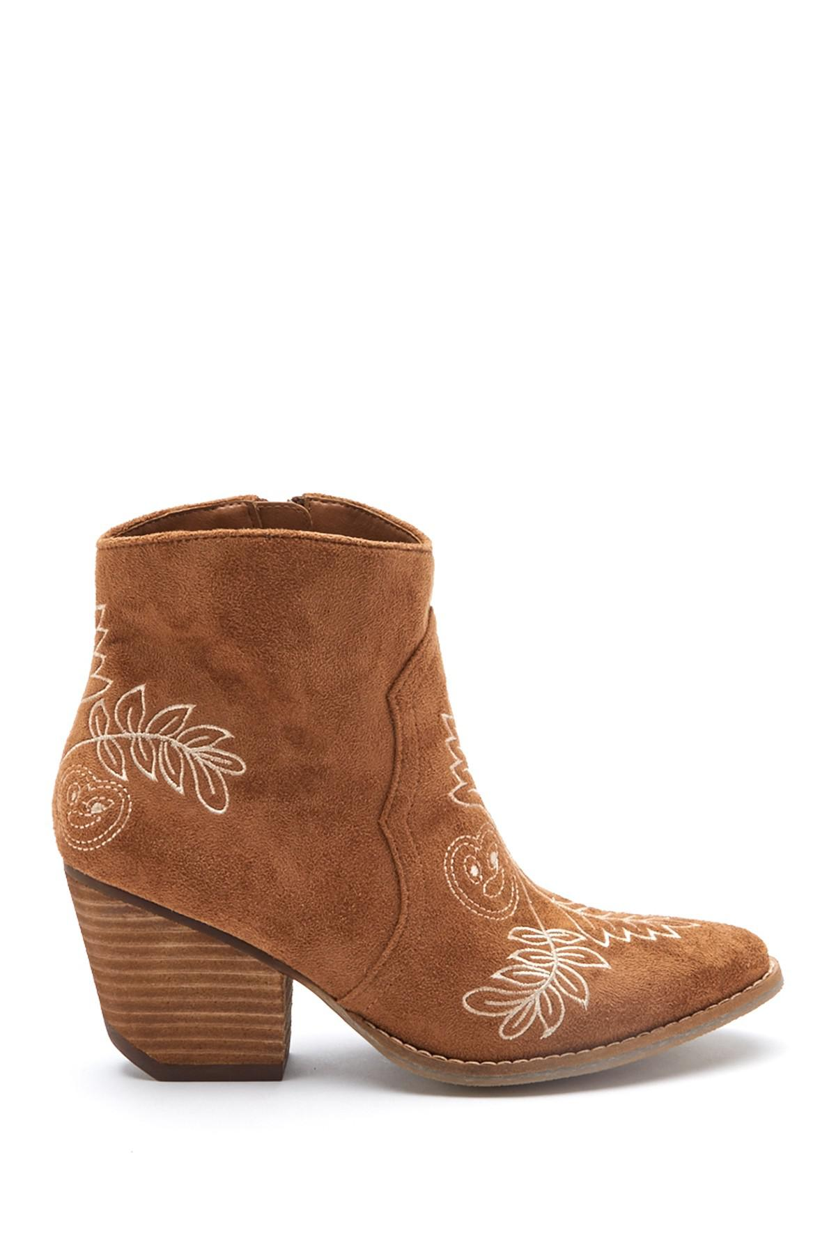 Matisse Axis Suede Embroidered Bootie WgwMO95