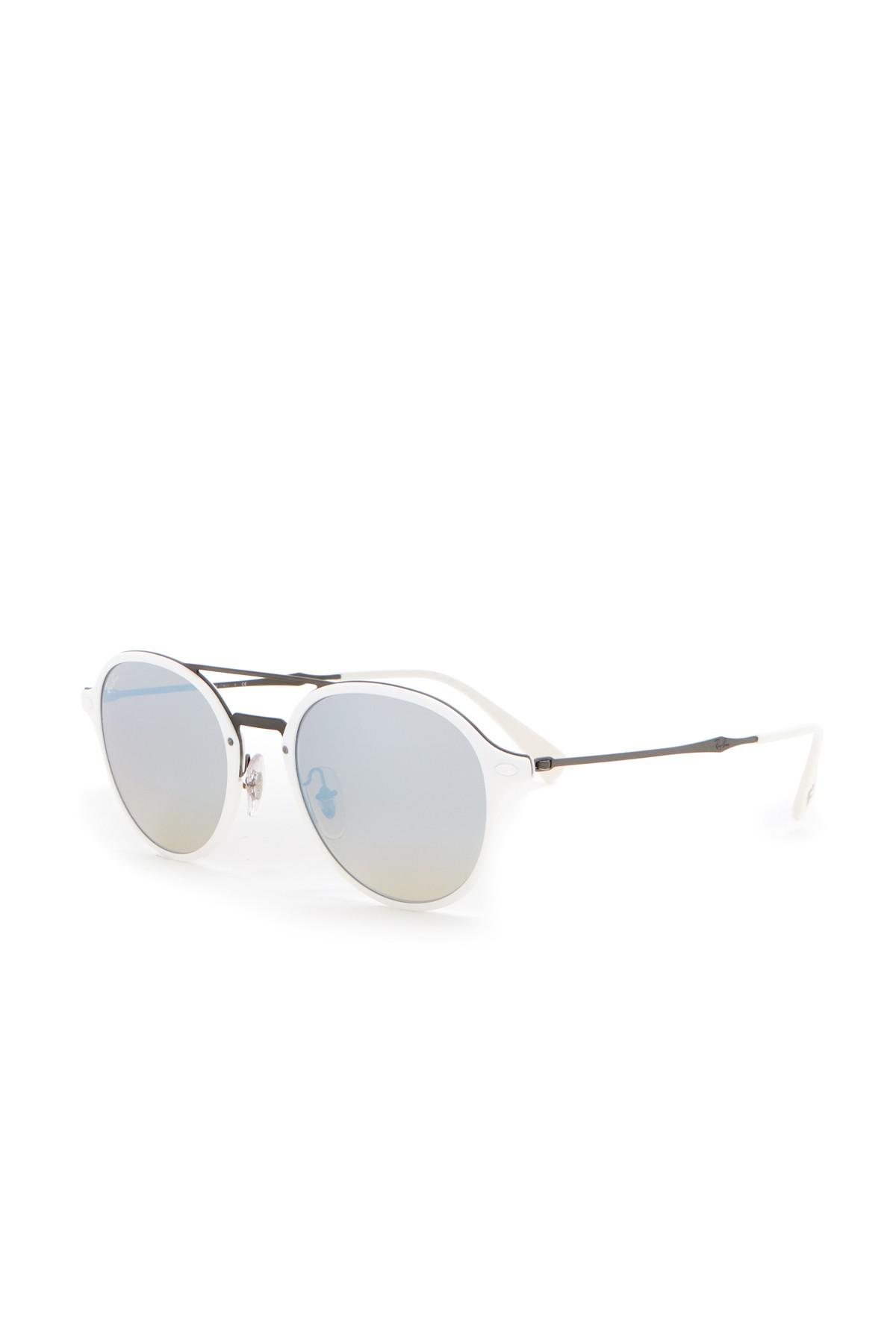 lyst ray ban 51mm round sunglasses in white for men Oakley Radarlock Sunglasses view fullscreen