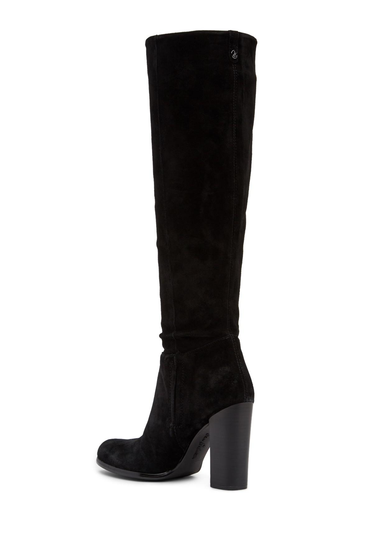 f6db16eb1a2dcd Lyst - Sam Edelman Victoria Tall Suede Boot in Black