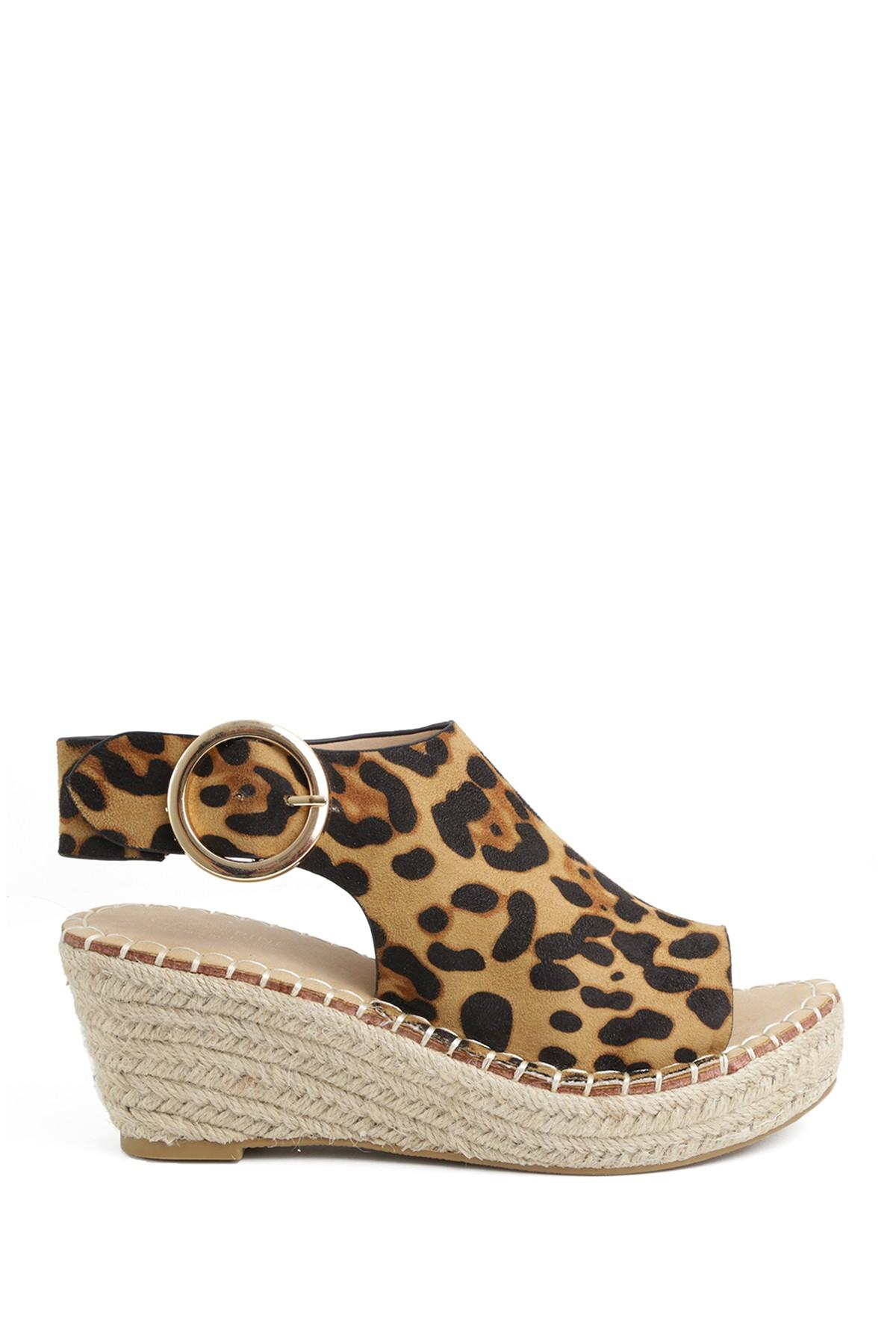 cheapest price great prices get new Catherine Malandrino Cirkly Espadrille Wedge Sandal in Leopard ul ...