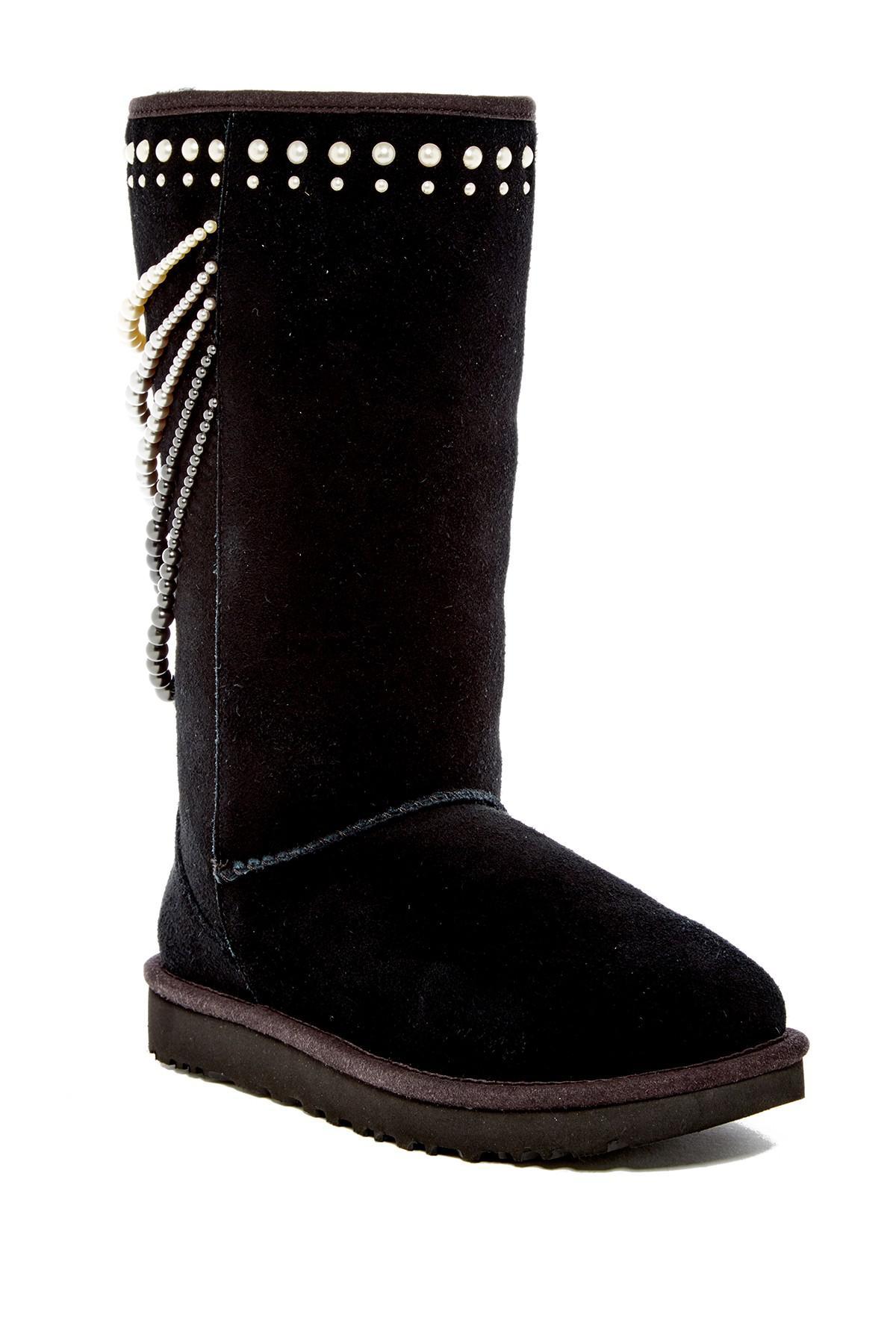 1d17da7e141 Ugg Black Calais Pearls Uggpure(tm) Boot