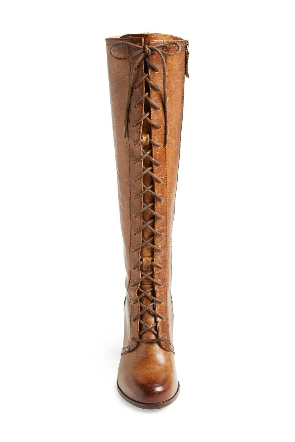 Lyst Frye Parker Lace Up Tall Boot In Brown