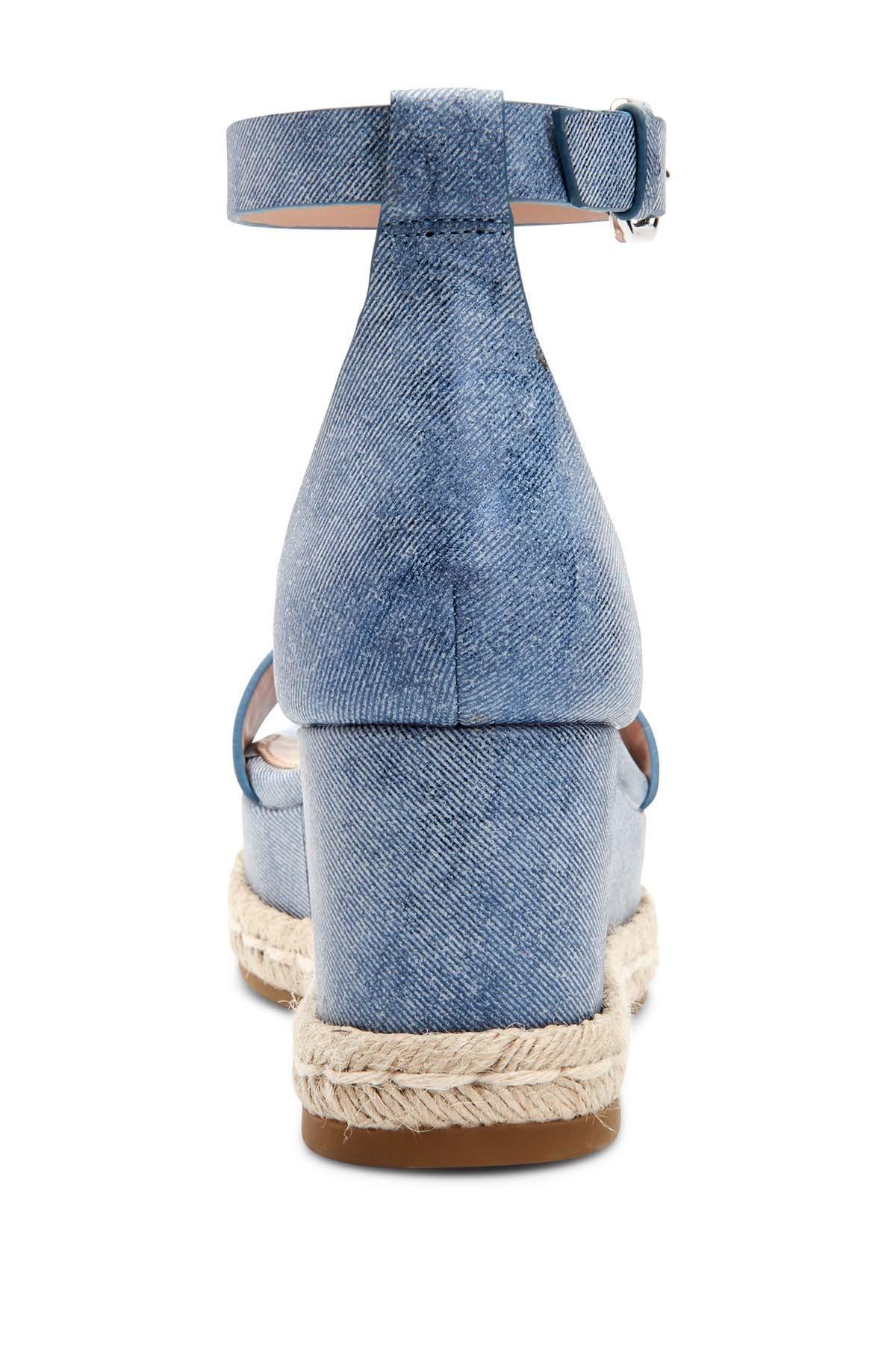 11d4cdd9885 Women's Blue Addie Espadrille Wedge Sandals
