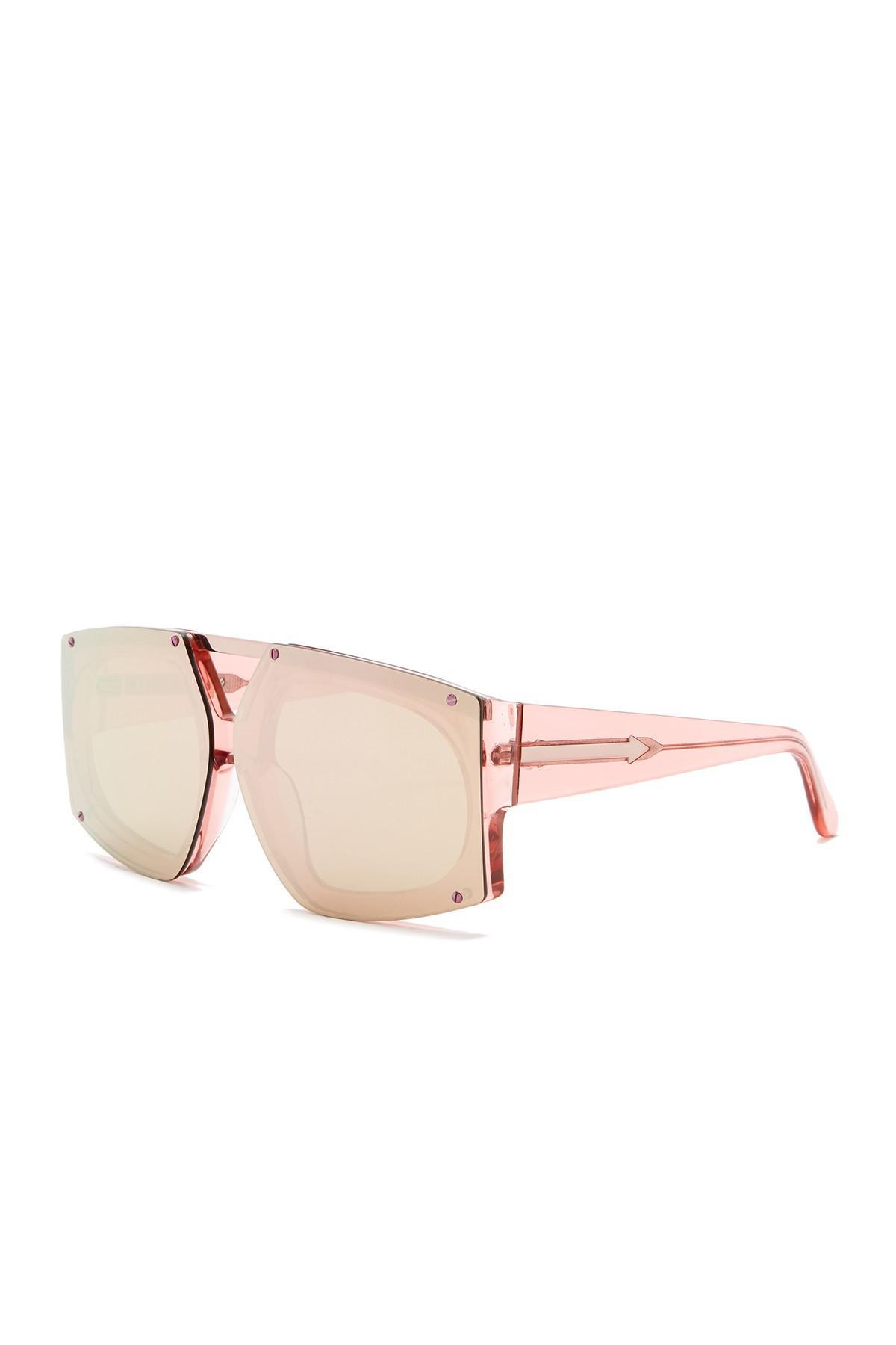 eb7f7df105f0 Lyst - Karen Walker 70mm Salvador Wrap Sunglasses in Pink