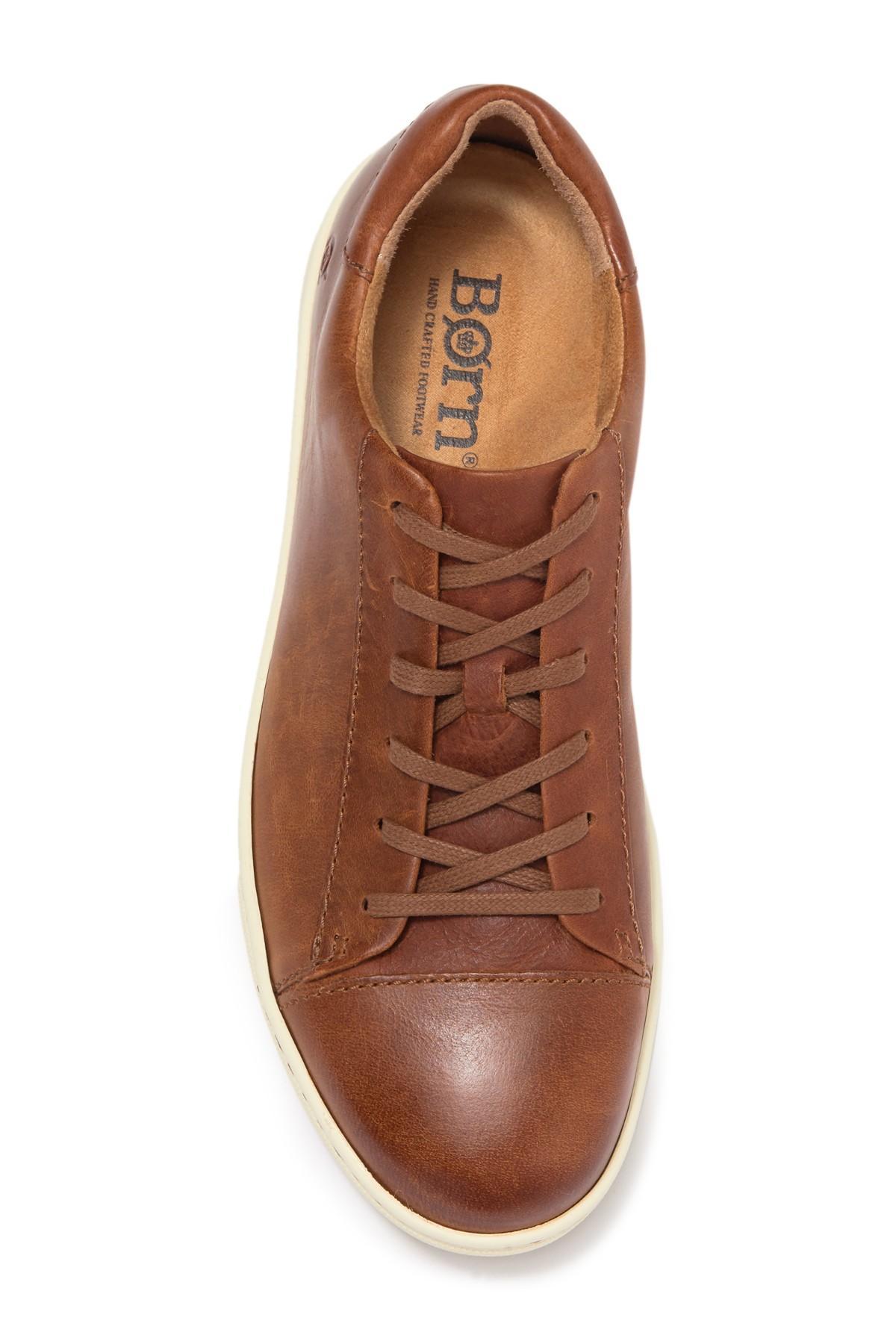 Born Ashram Leather Sneaker in Tan