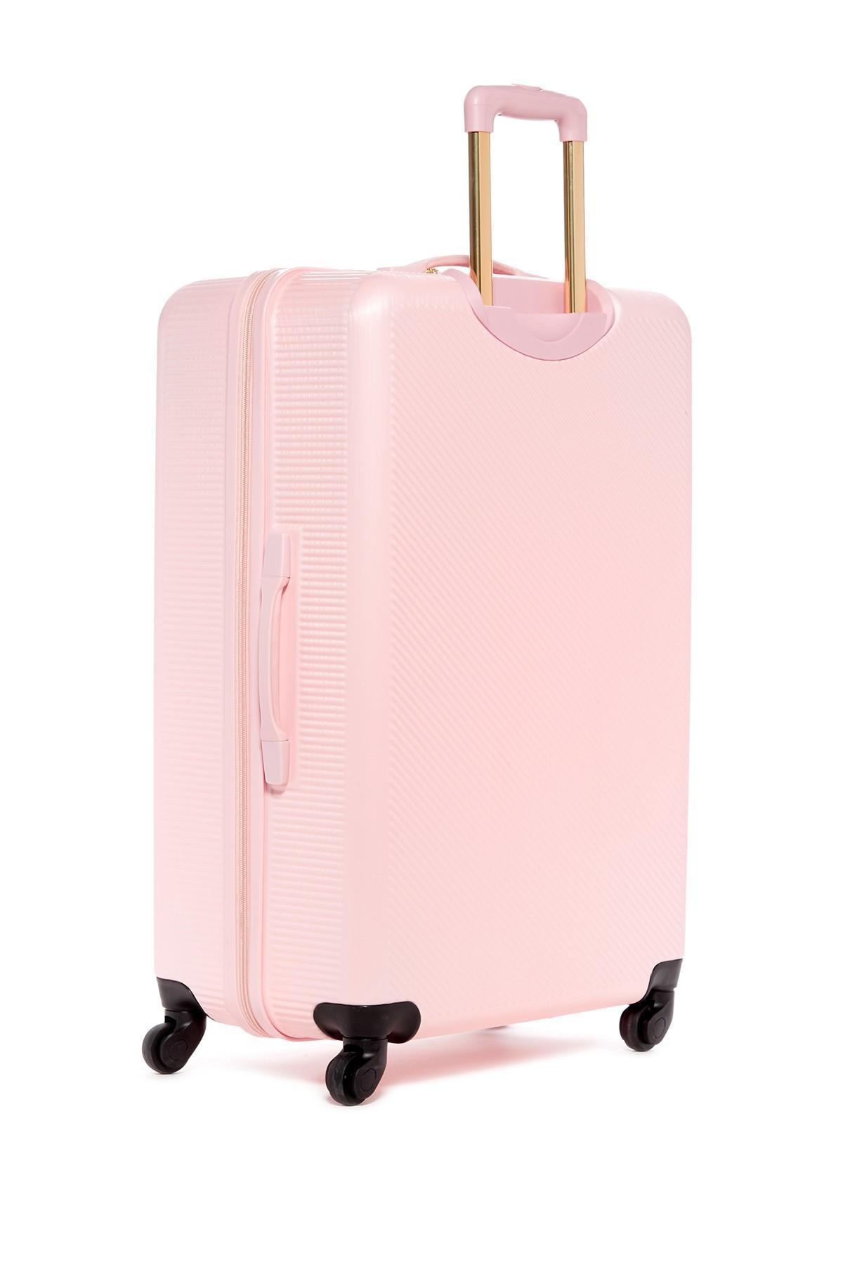 Lyst Anne Klein Aurora 24 Quot Hardside Spinner Luggage In Pink