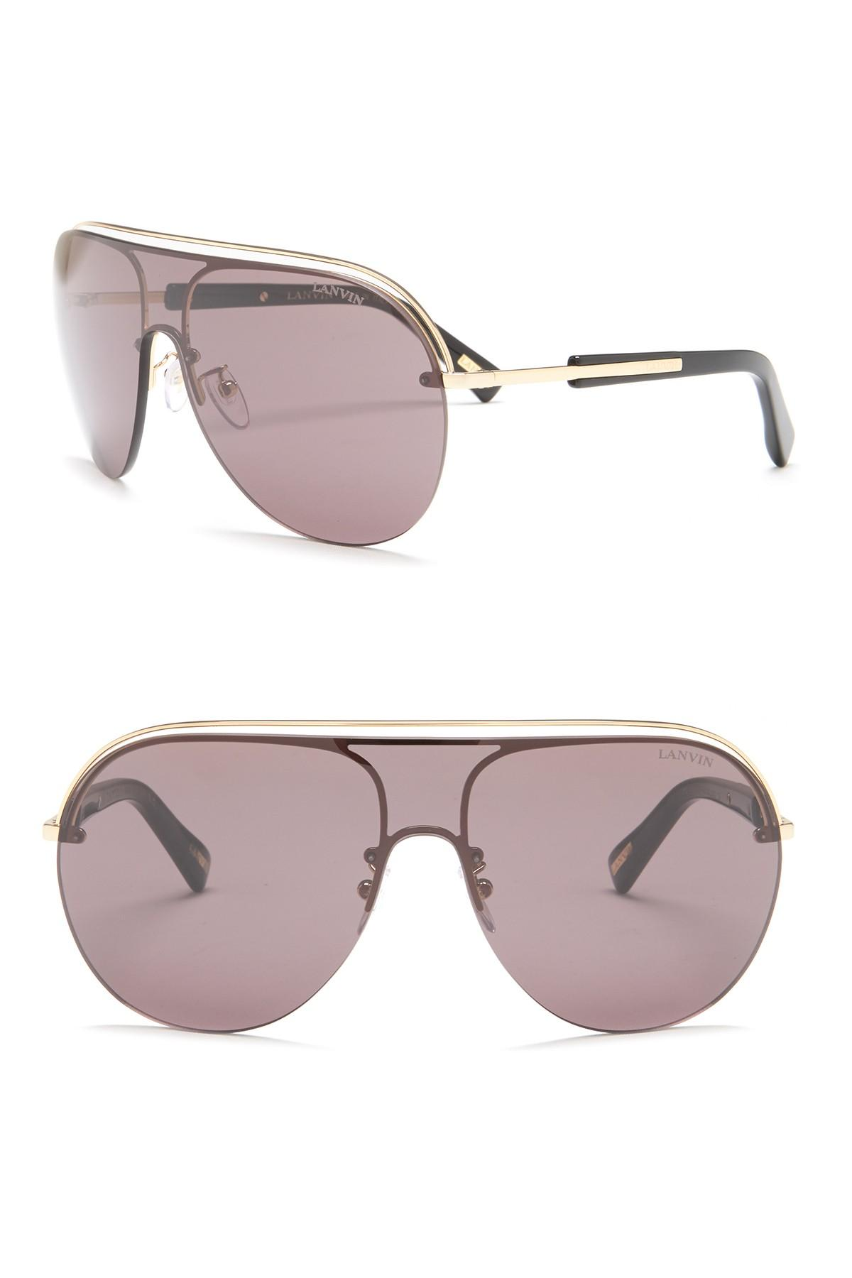 cbb1fc354ac ... Acetate Shield Sunglasses - Lyst. View fullscreen