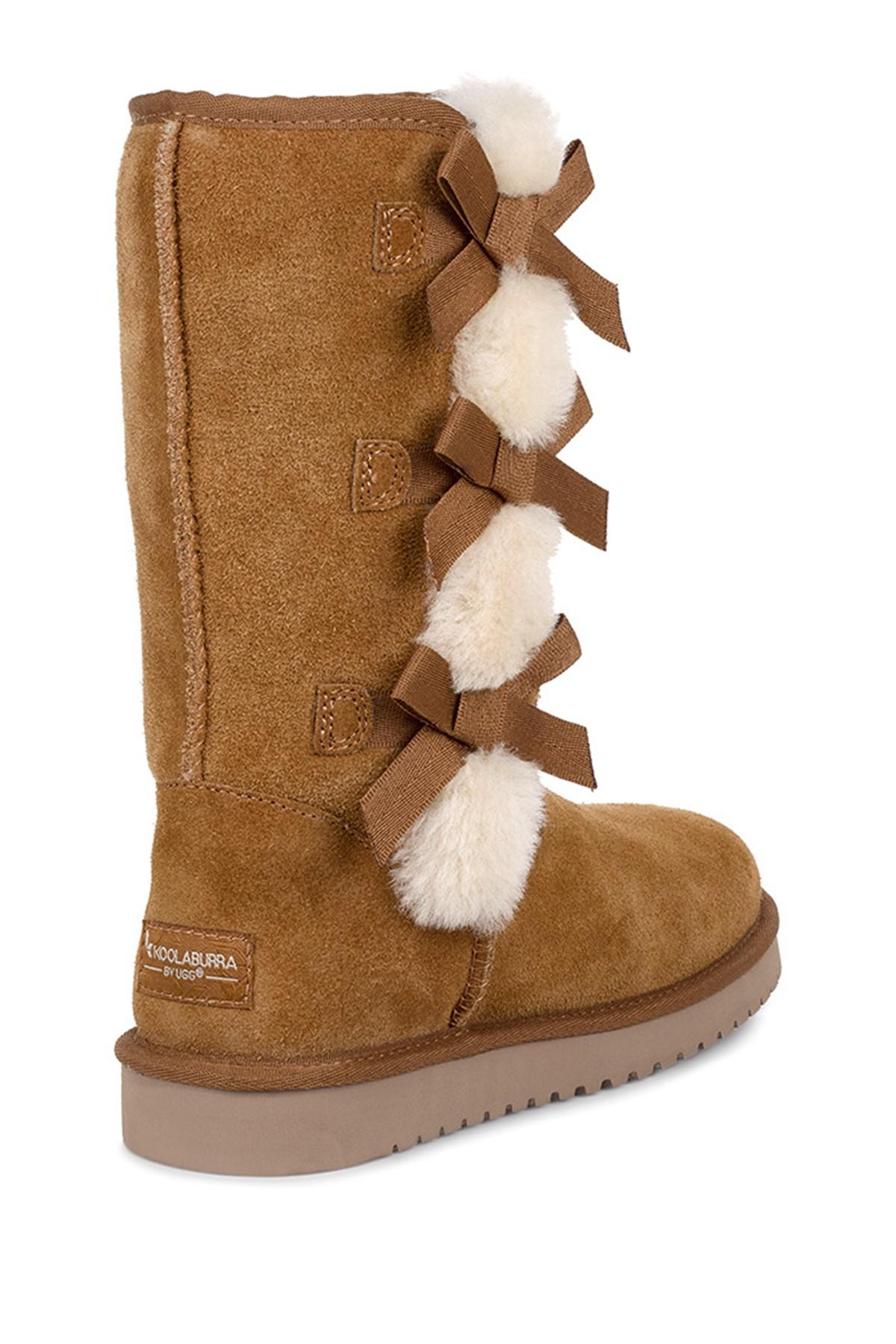 aabc375a483 Women's Brown Victoria Tall Genuine Dyed Shearling Trim & Faux Fur Boot