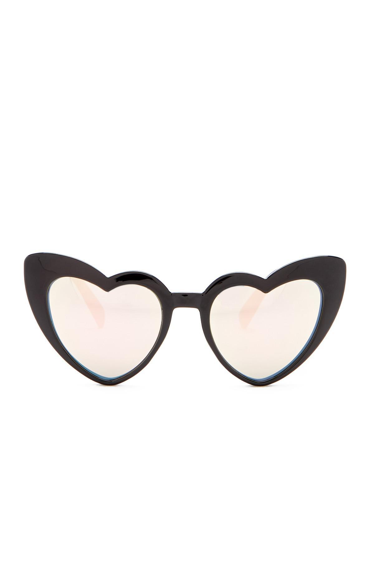 9c1ac84031255 Betsey Johnson 52mm Heart Cat Eye Sunglasses in Black - Lyst