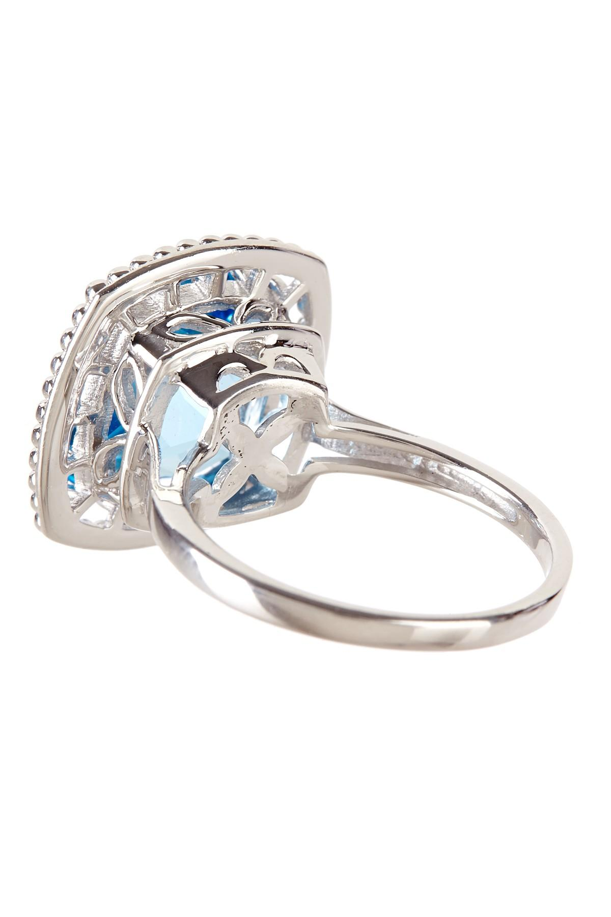 lyst liberty sterling silver swiss blue topaz ring. Black Bedroom Furniture Sets. Home Design Ideas