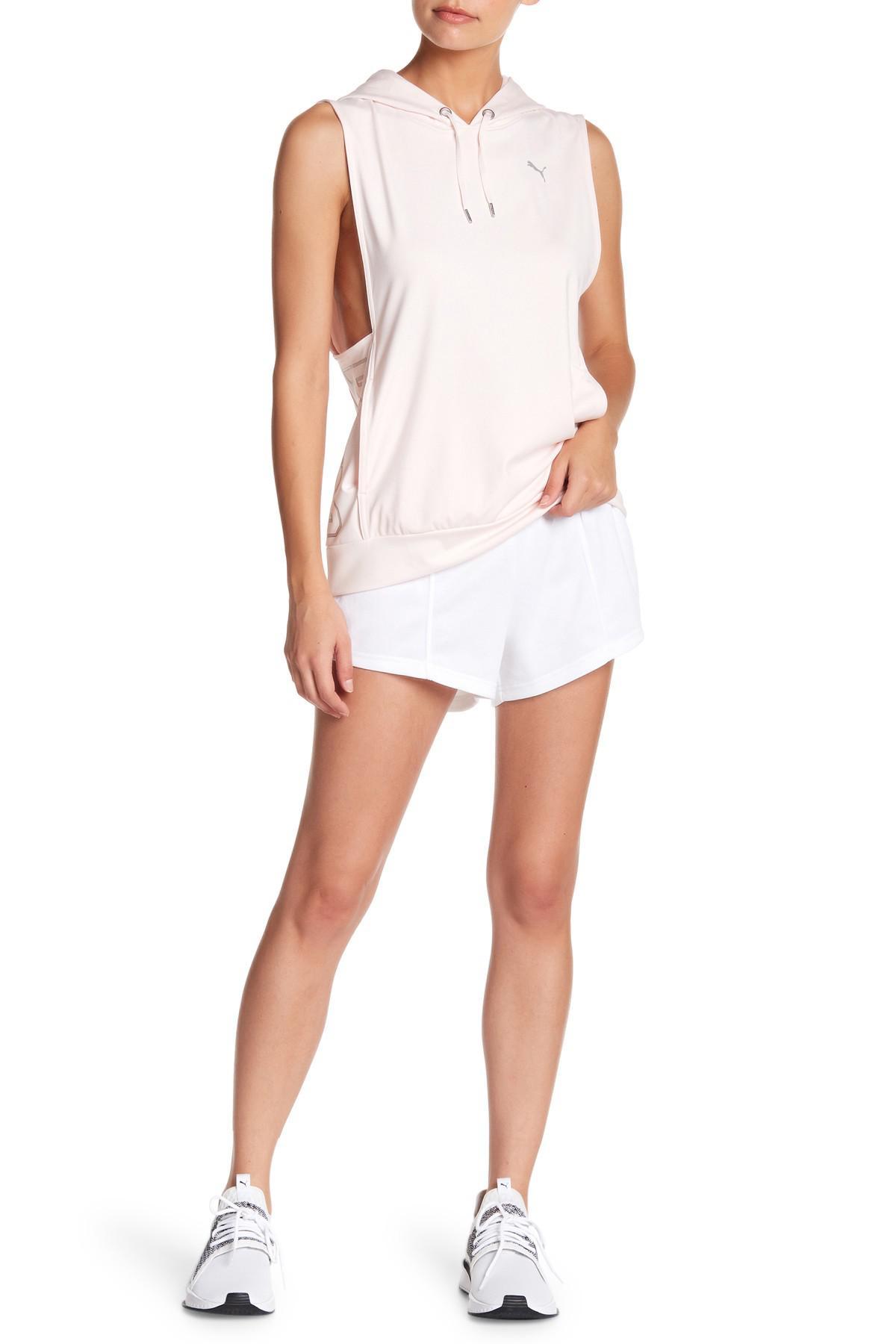 238a1d23dc4d Lyst - PUMA Fusion Logo Waistband Shorts in White